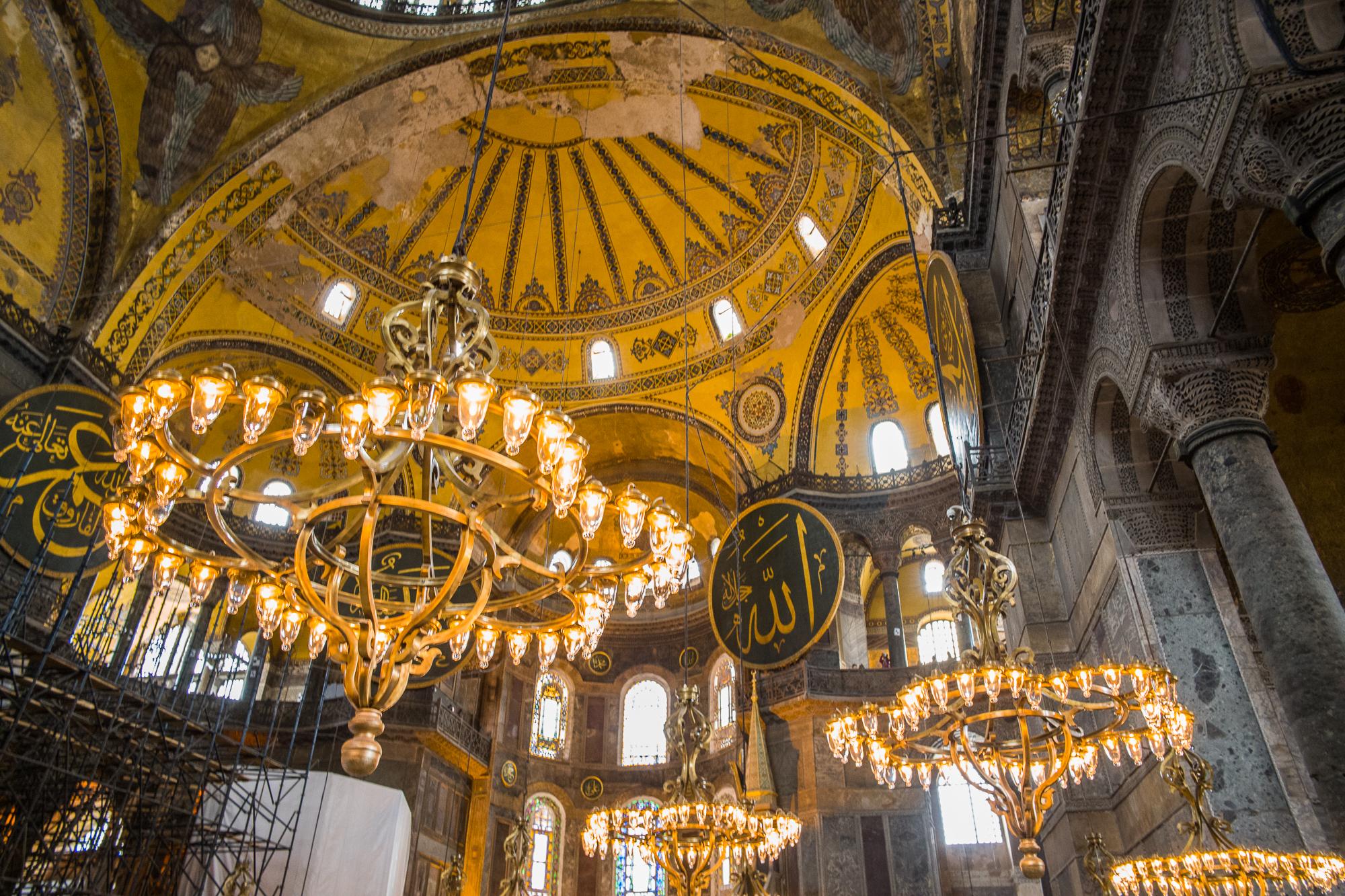 Looking up in the Hagia Sophia