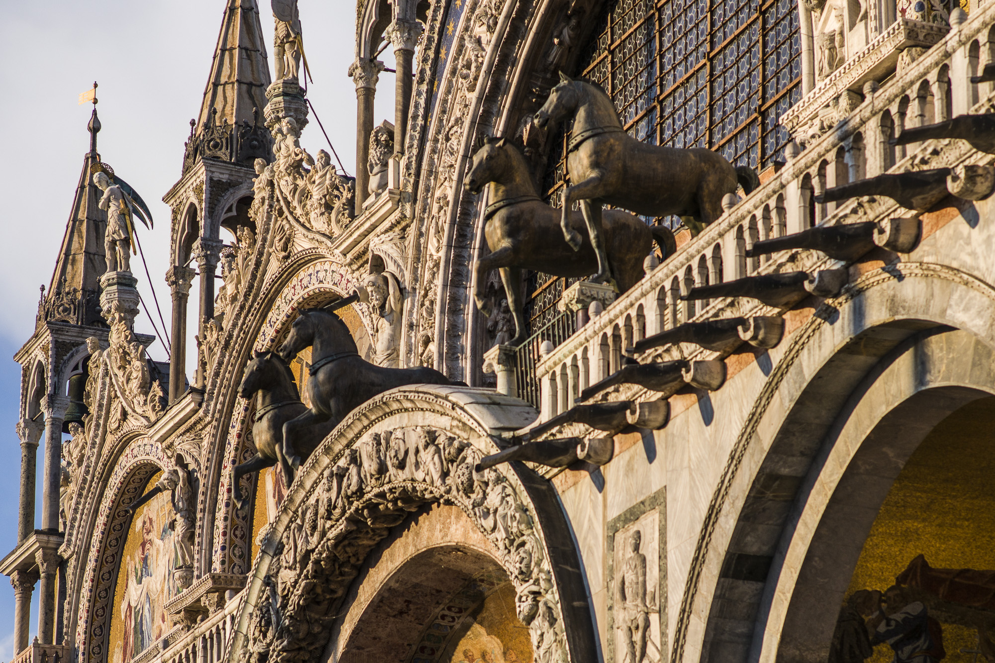 The bronze horses atop St Mark's in Venice courtesy of Constantinople