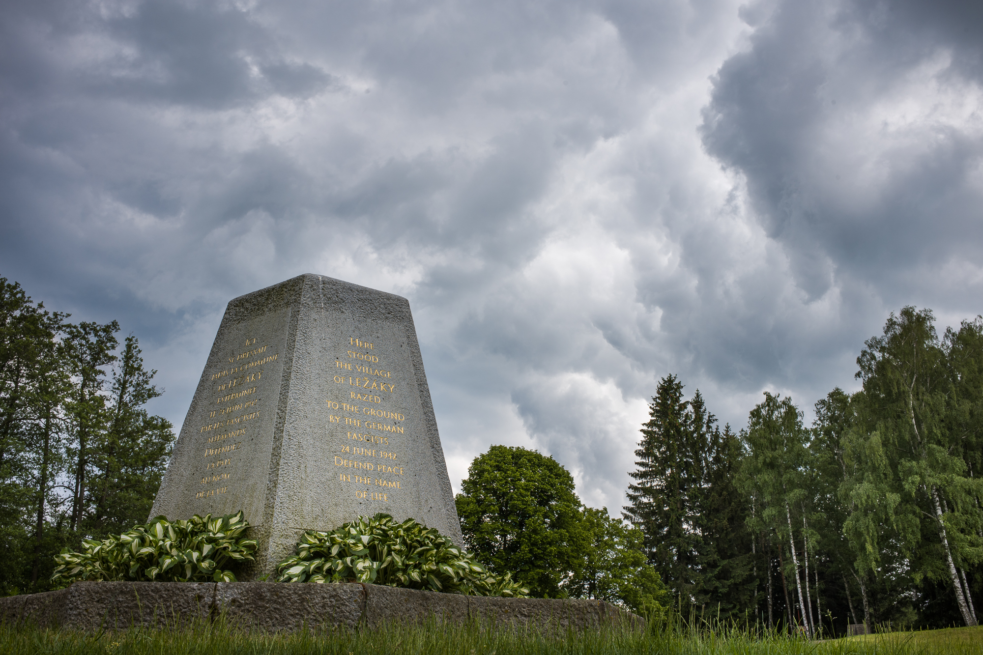 Memorial to the village of Ležáky