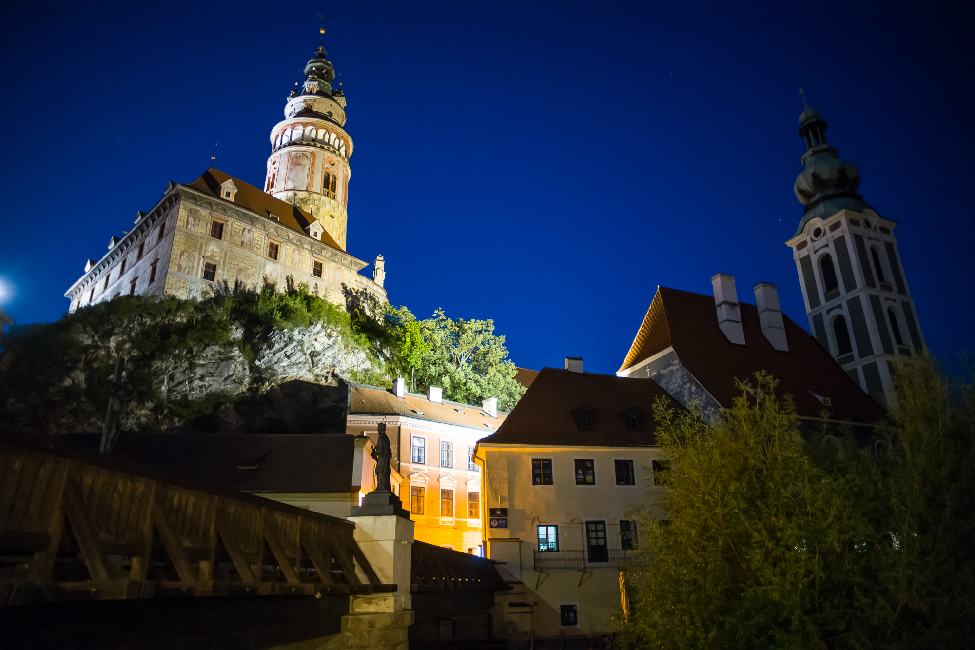Castle of Cesky Krumlov at night