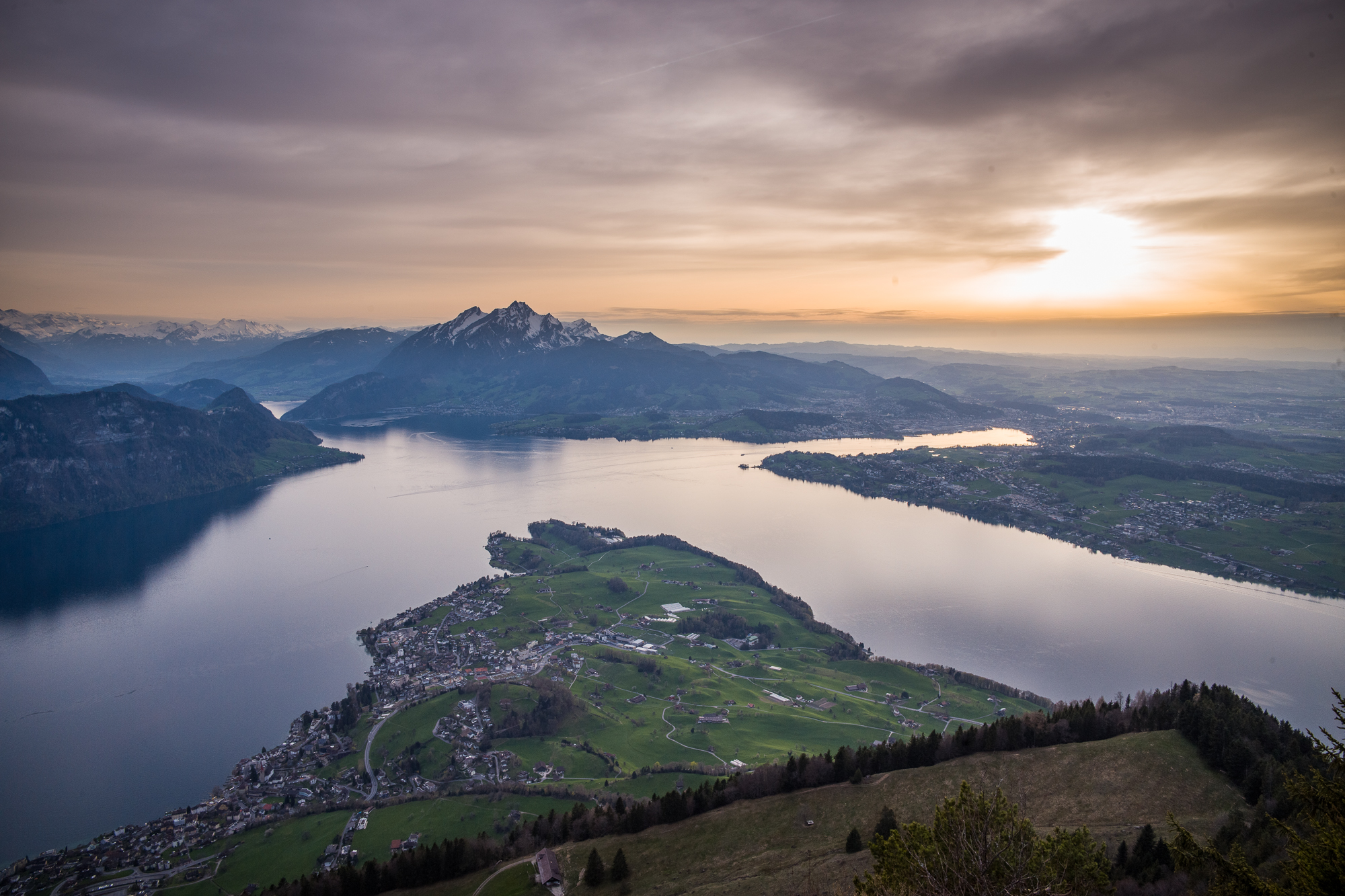 Lake Lucerne from the Rigi