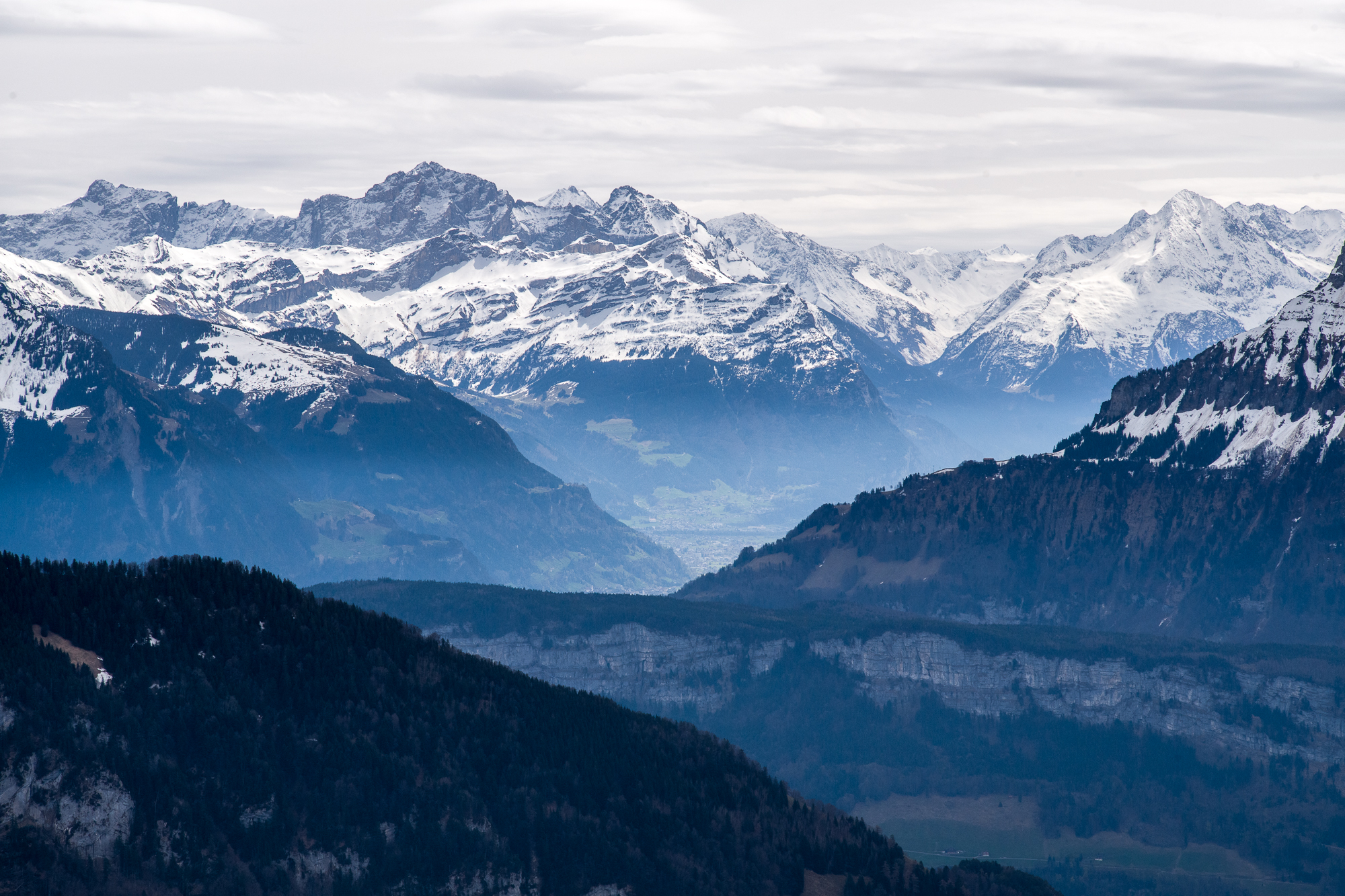 View of the Alps from Rigi Kaltbad