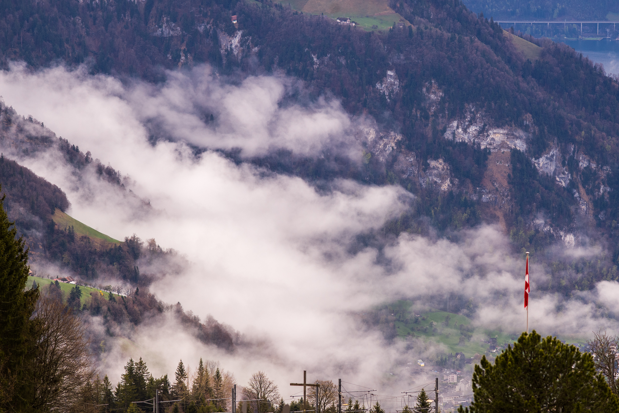 Mountain fog below Rigi Kaltbad