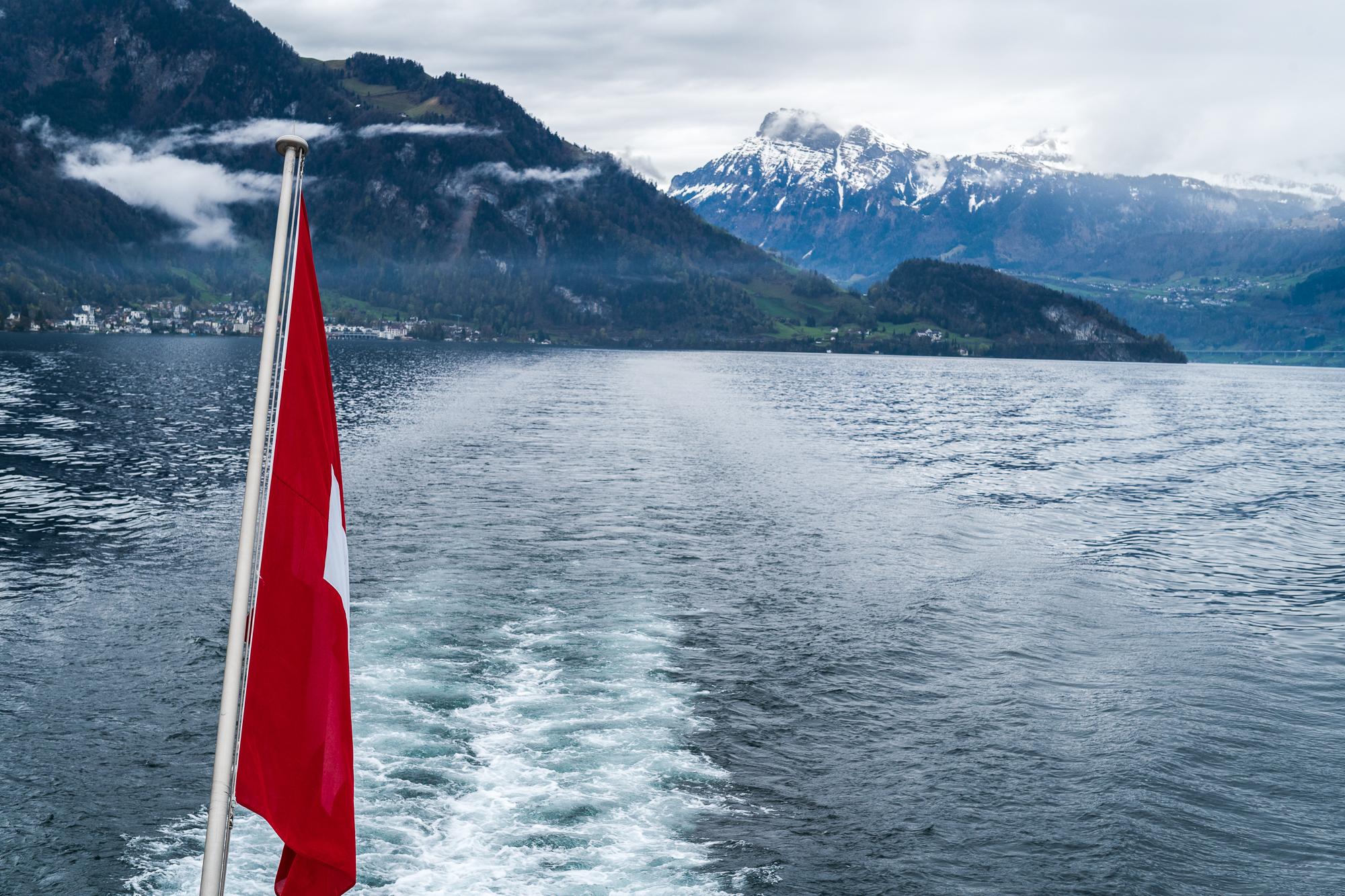 The boat ride to Vitznau