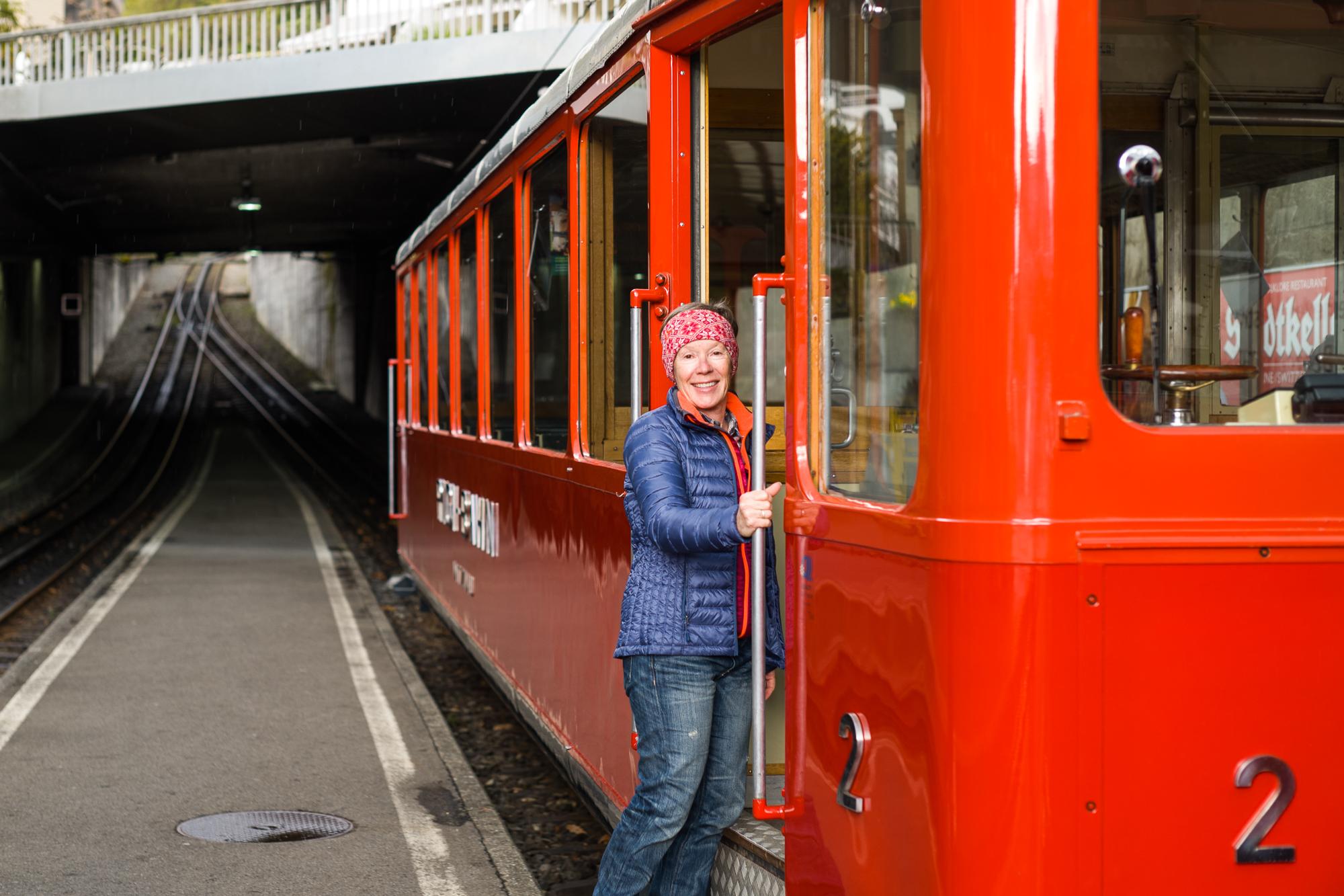 All aboard the Rigi Railway in Vitznau