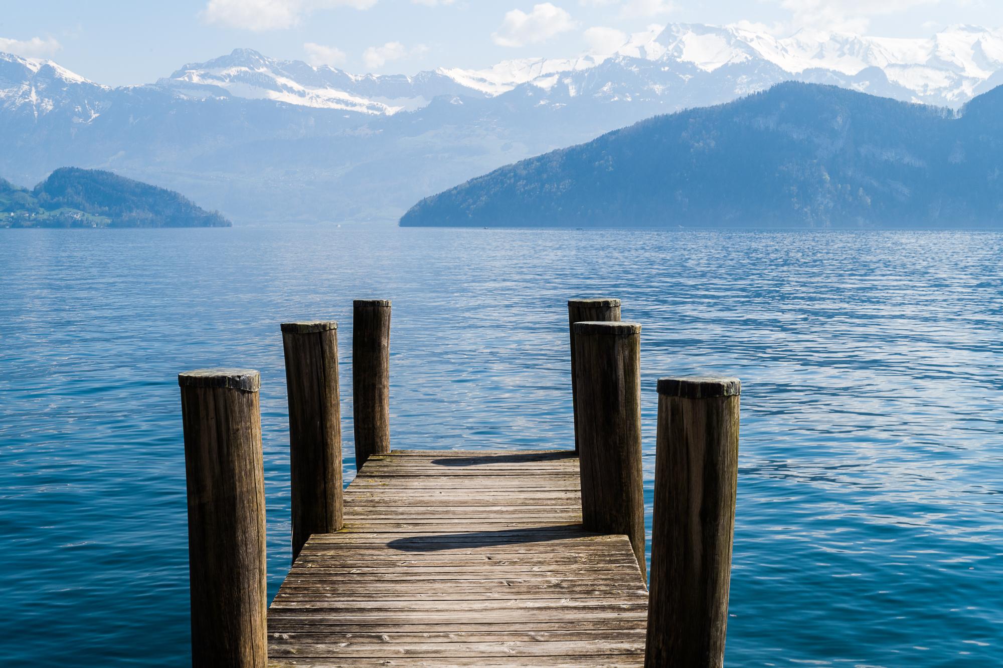 Dock on Lake Lucerne