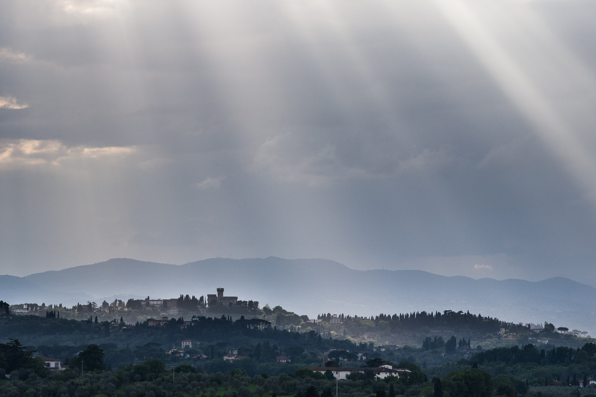View of Tuscany from the Villa