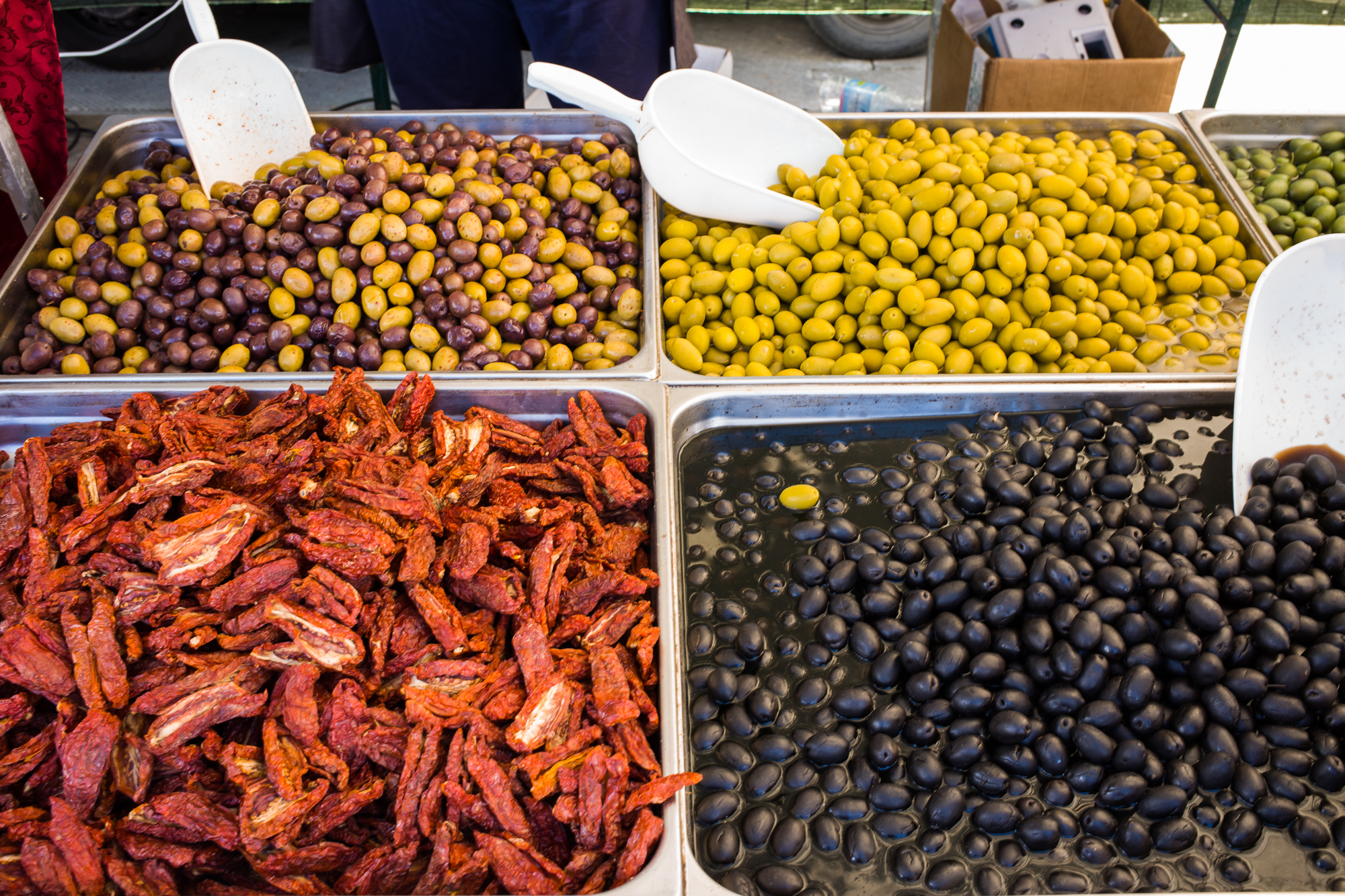 Olives at the Tuscan market