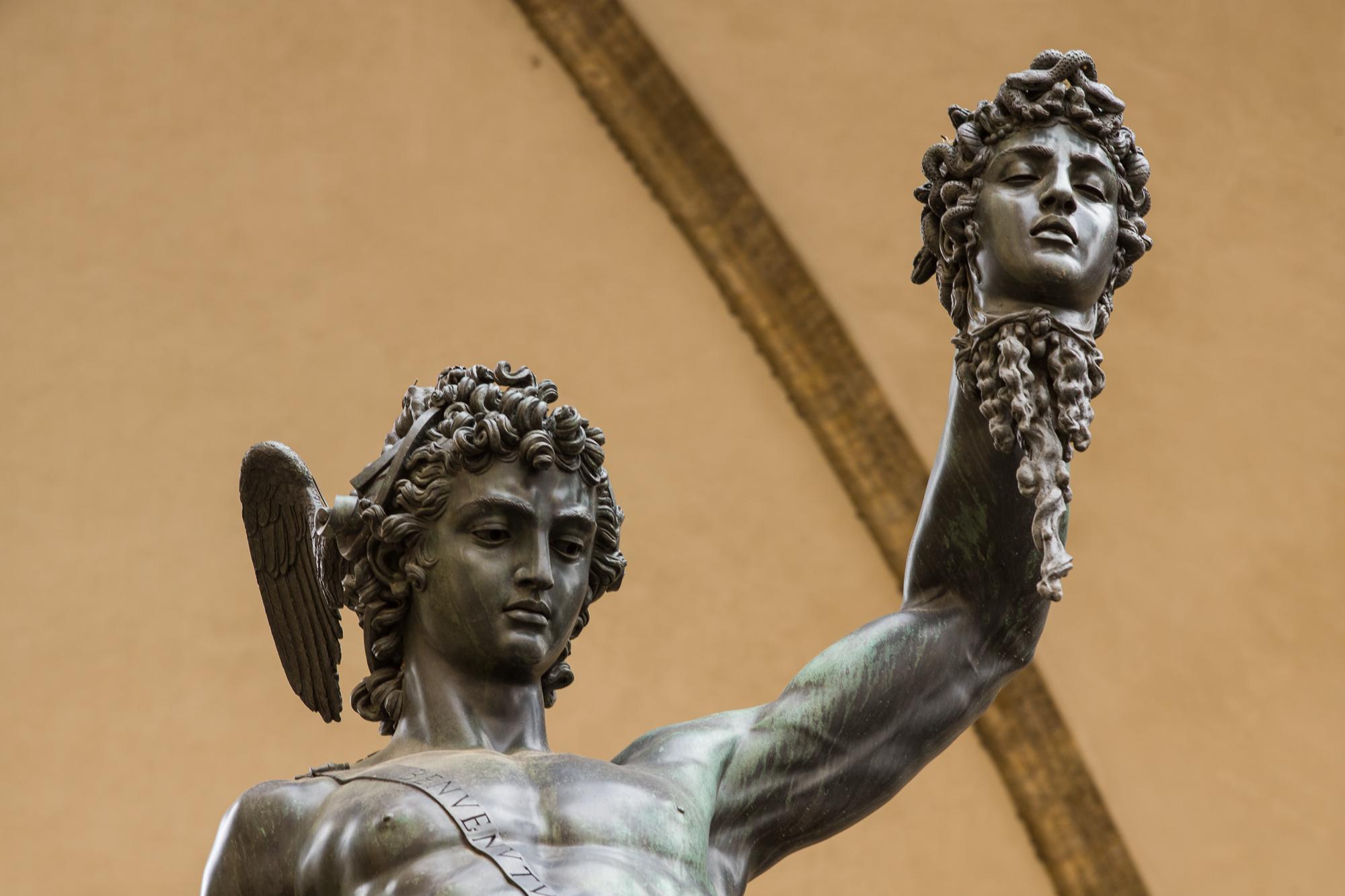 Sculpture of Medusa in Florence