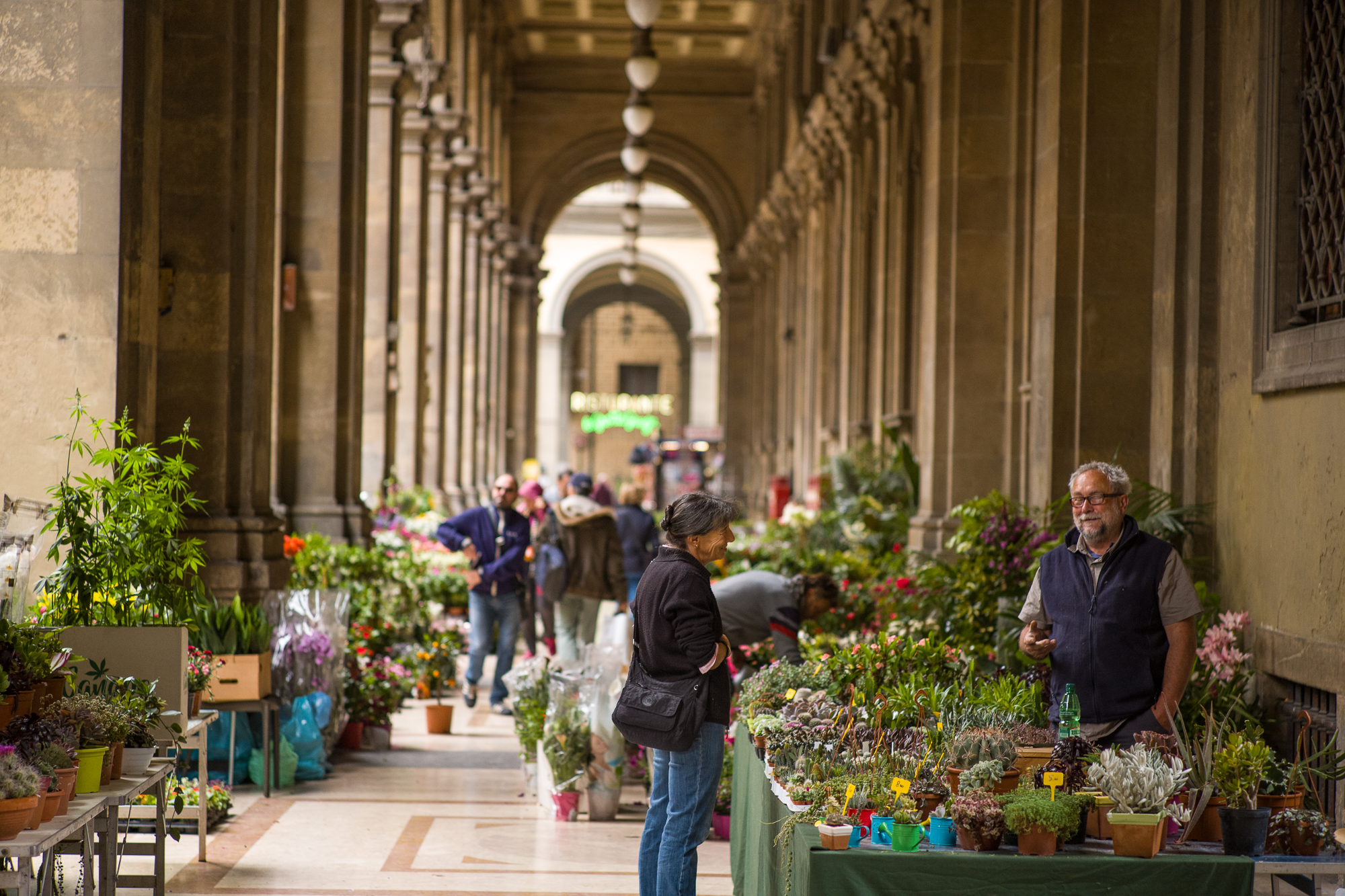 Flower market in Florence