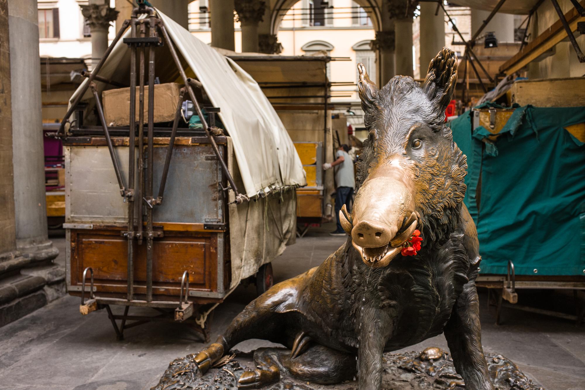 Boar sculpture in Florence