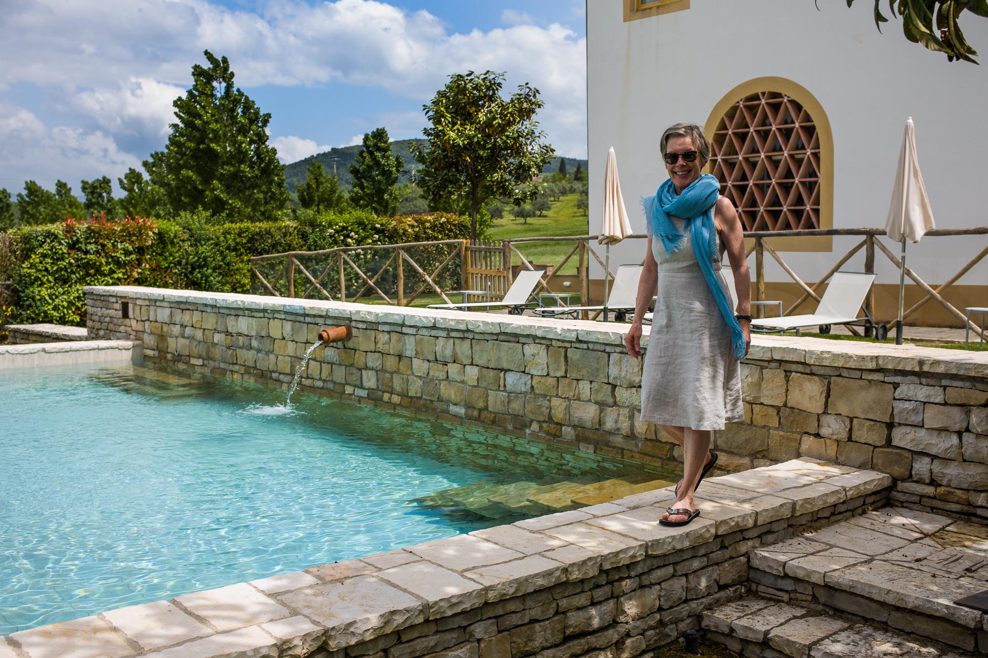 Enjoying the pool at the THIRDHOME Villa