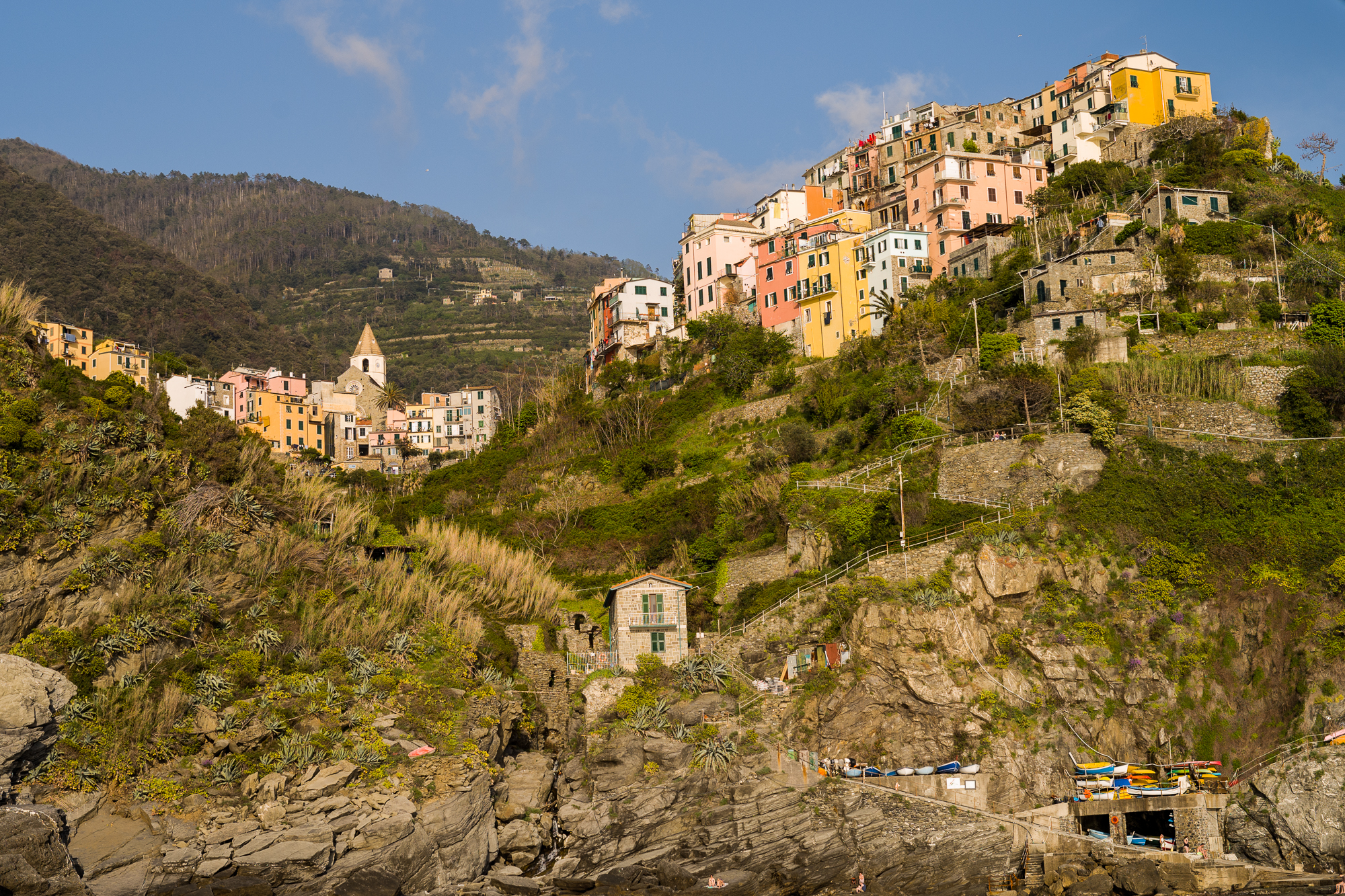Cinque Terre from the water
