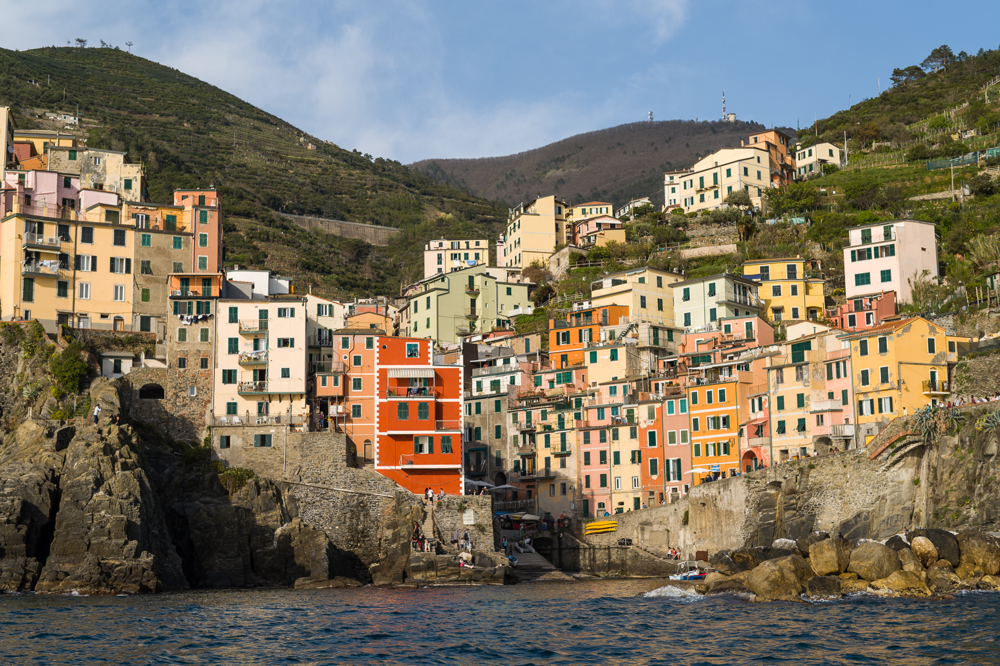 Cinque Terre from the sea