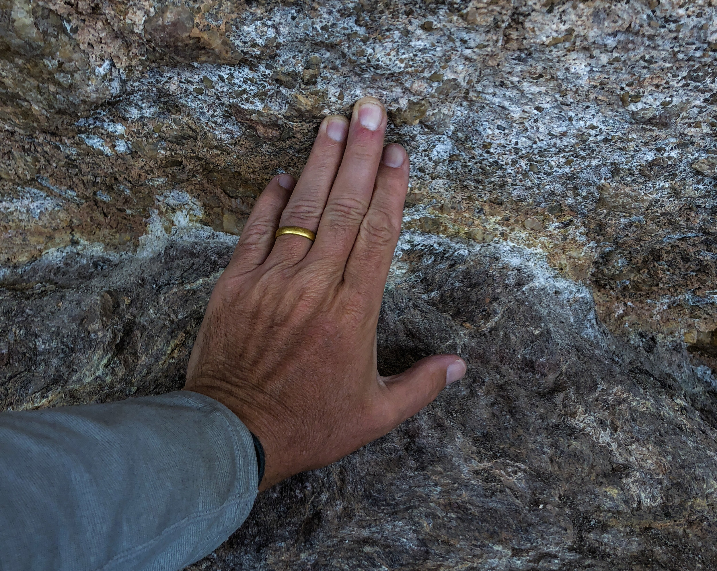 The Great Unconformity, over 1,000,000,000 years across my hand