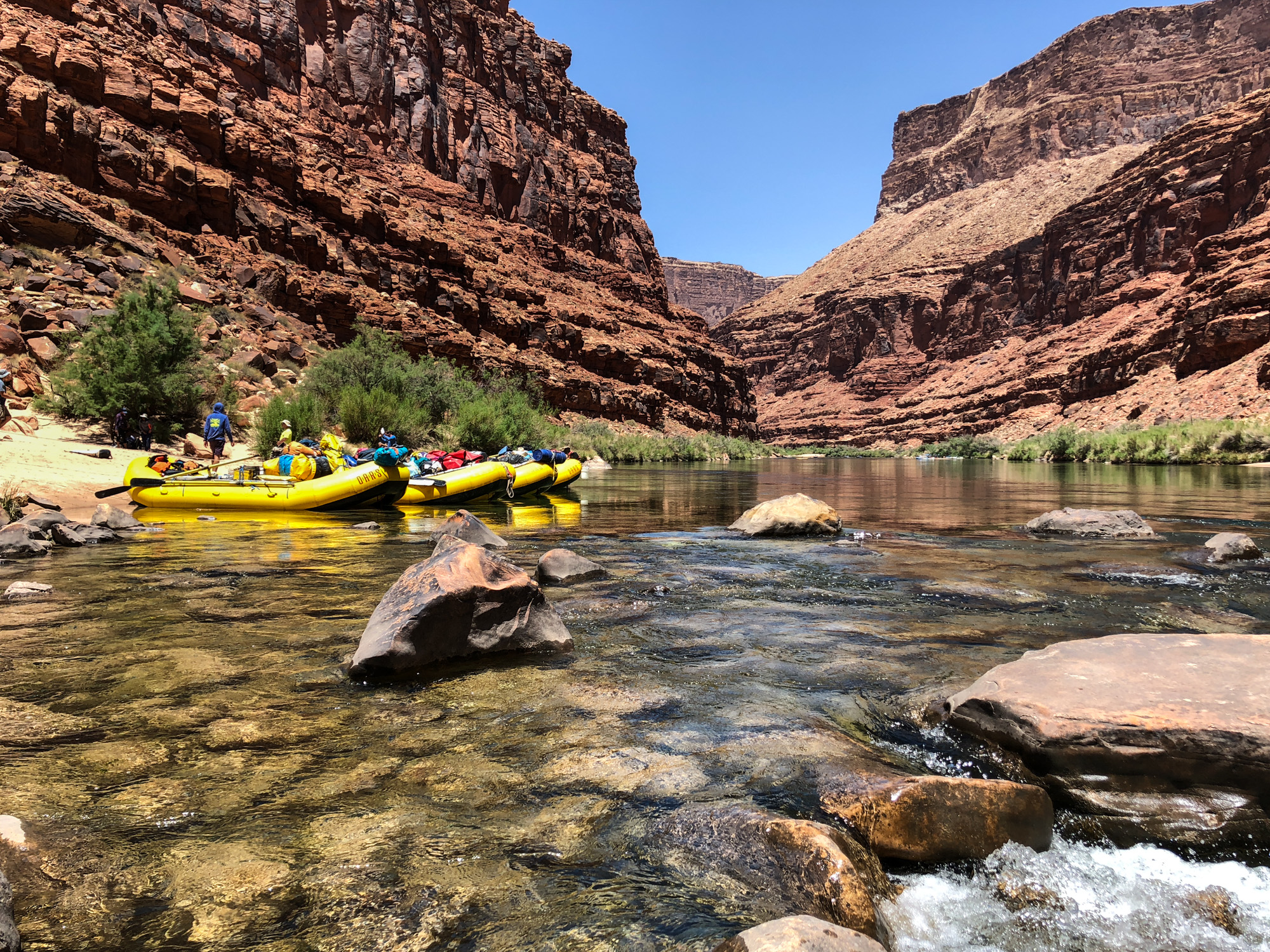 Lunch Stop on the Colorado river