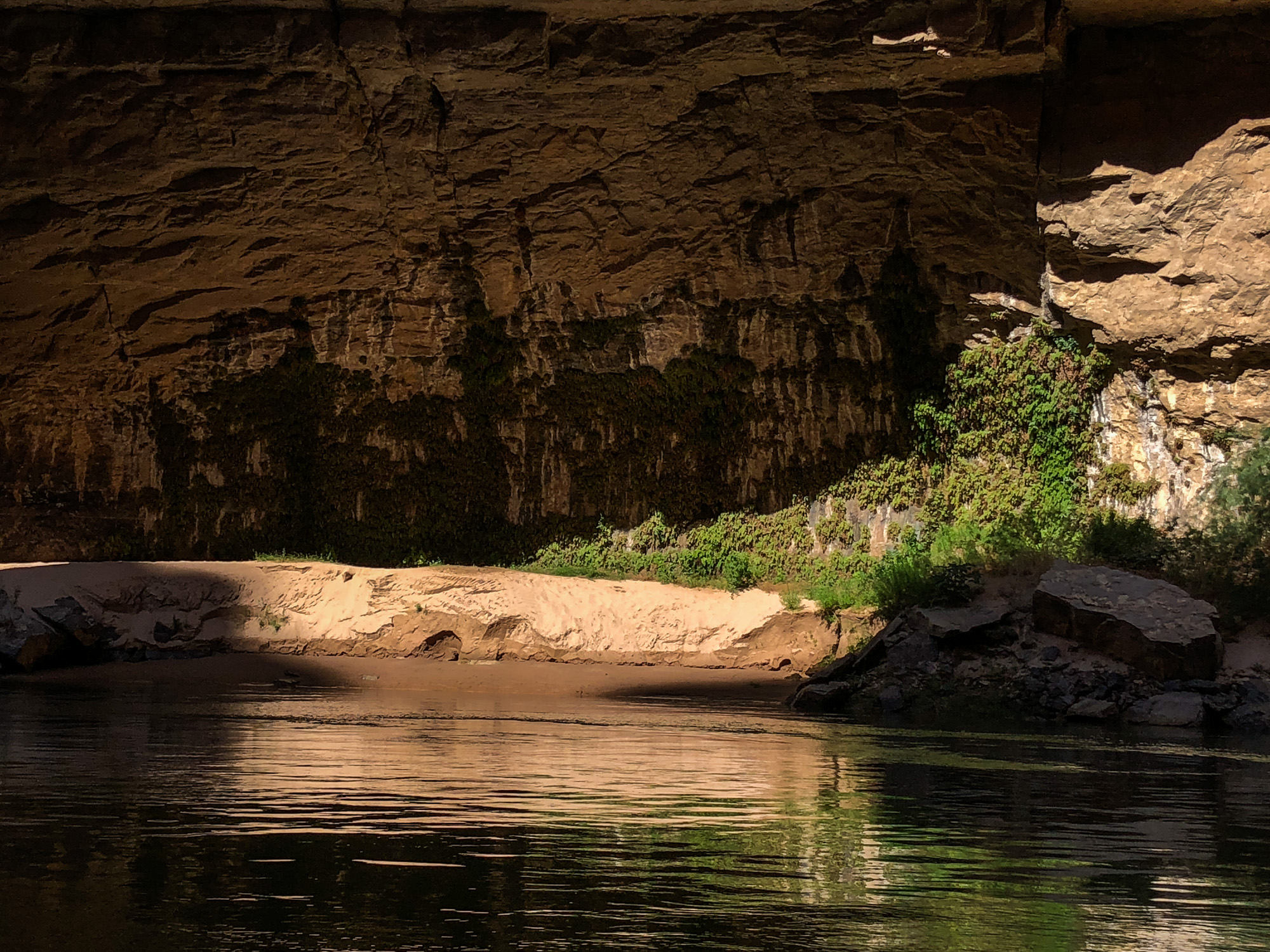 The Colorado River inside the Grand Canyon