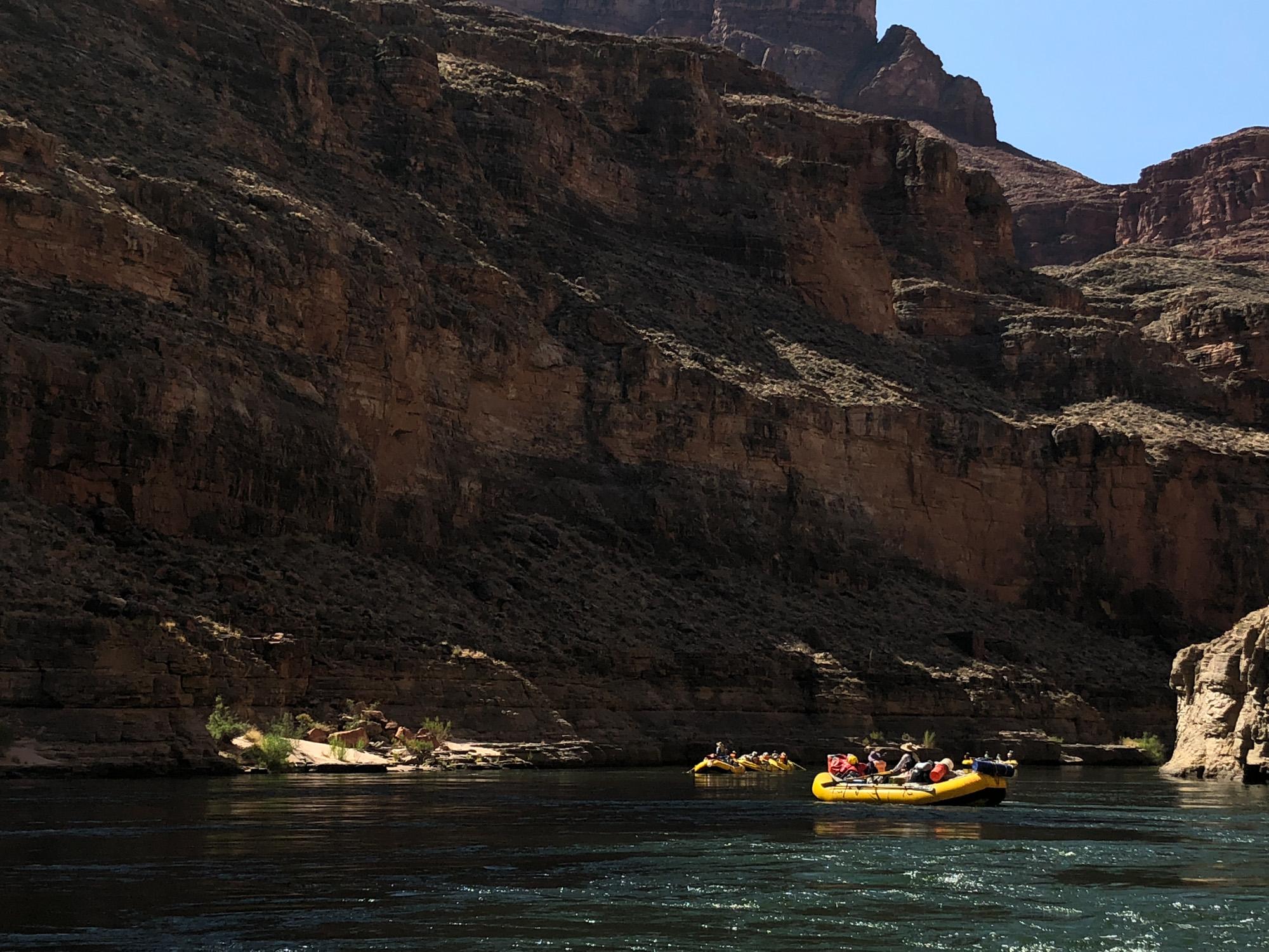Raft flotilla on the Colorado River