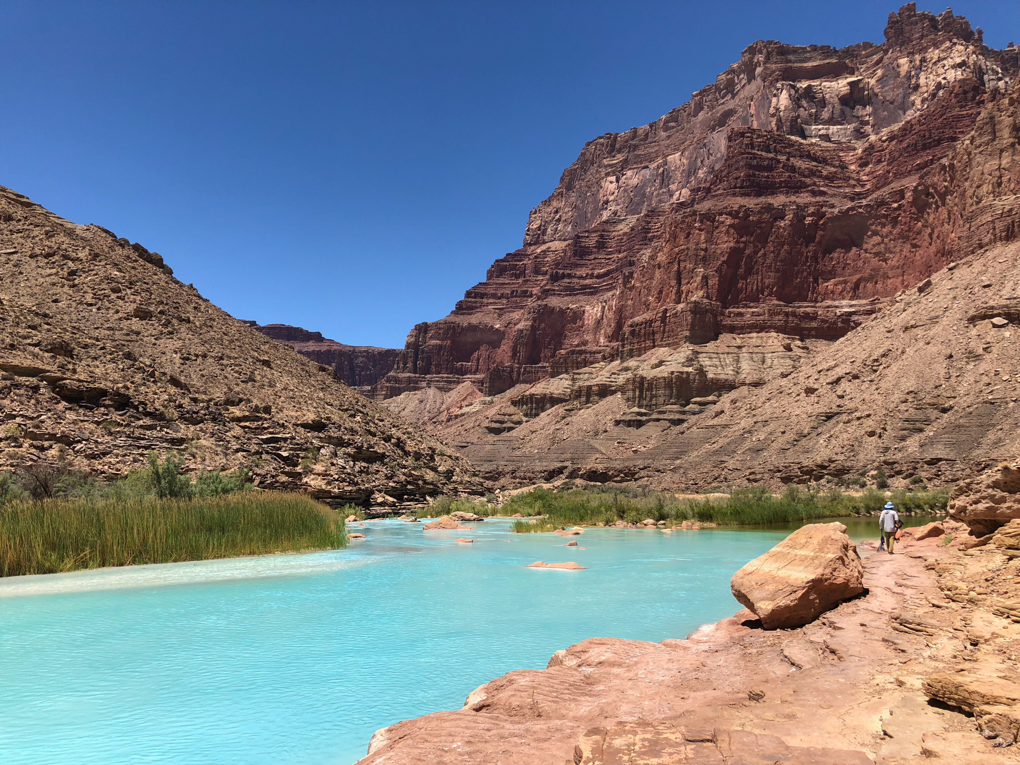 Turquoise blue of the Little Colorado River