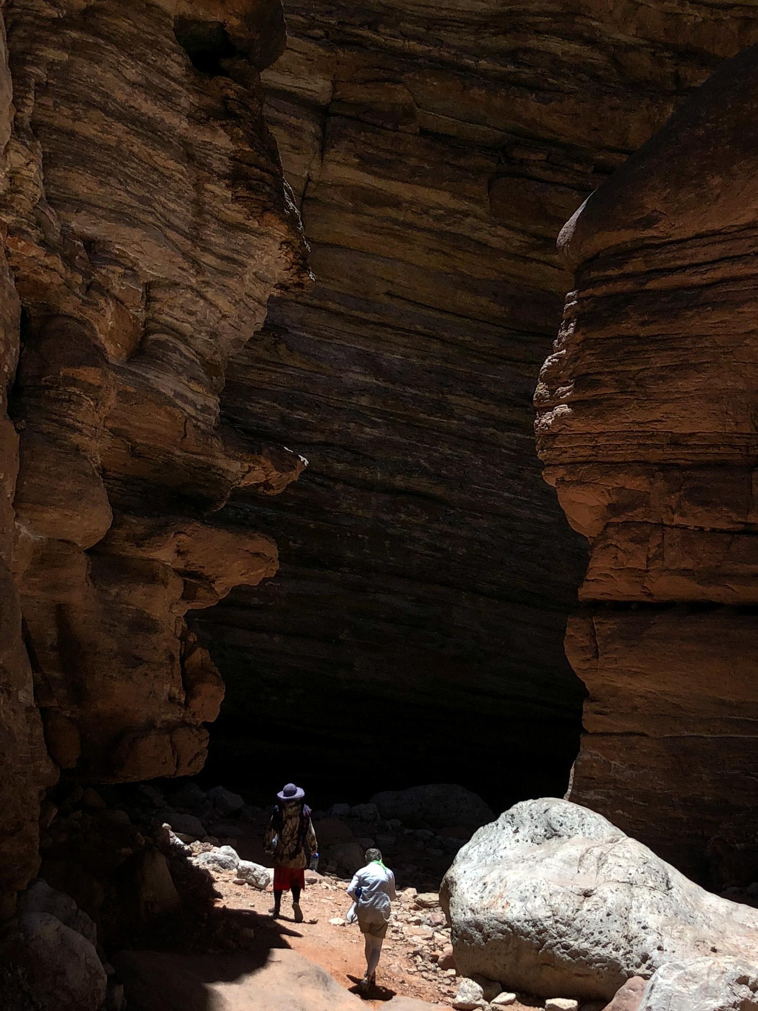 Walking through Blacktail Canyon