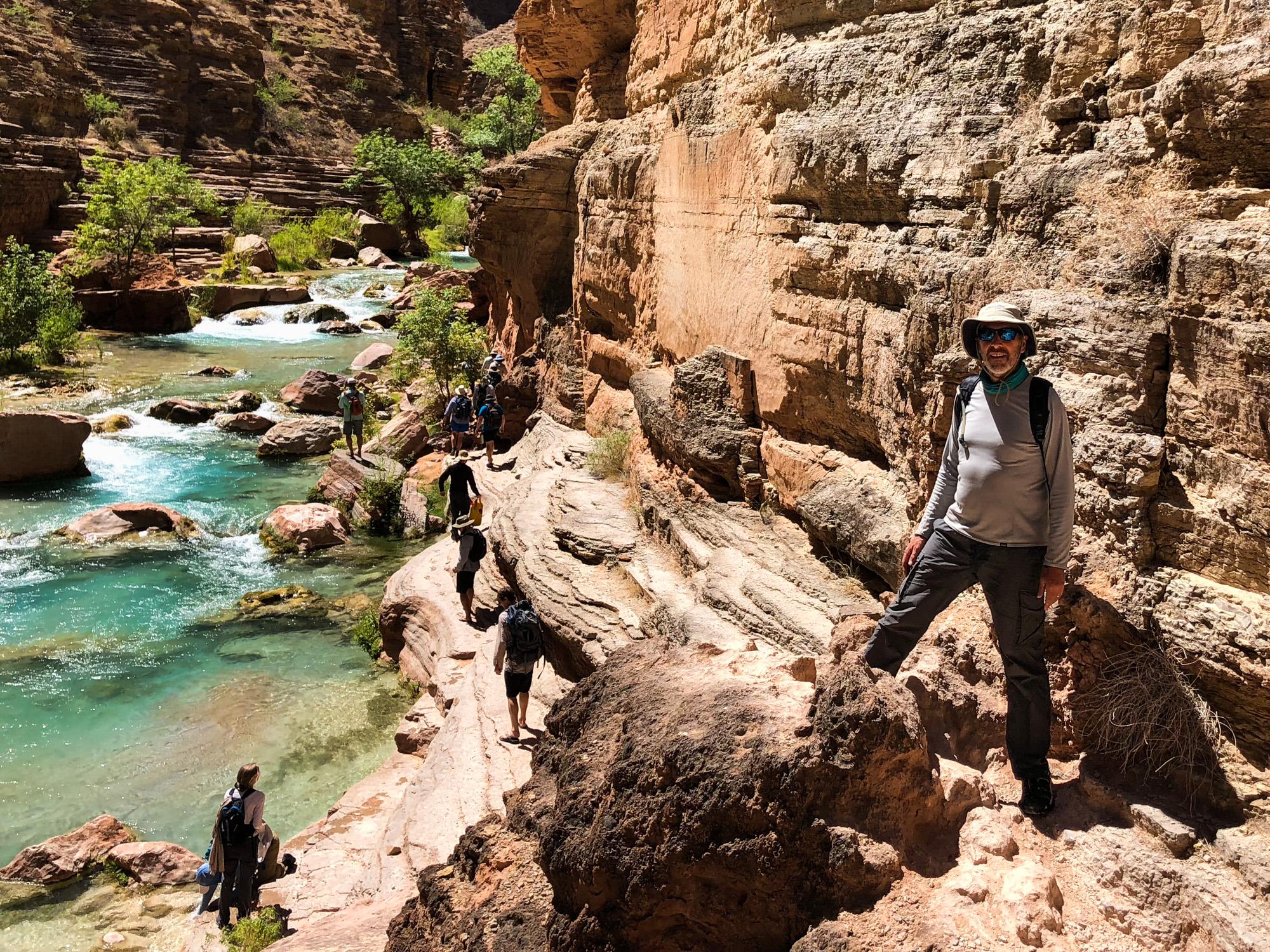 Hiking up Havasu Creek