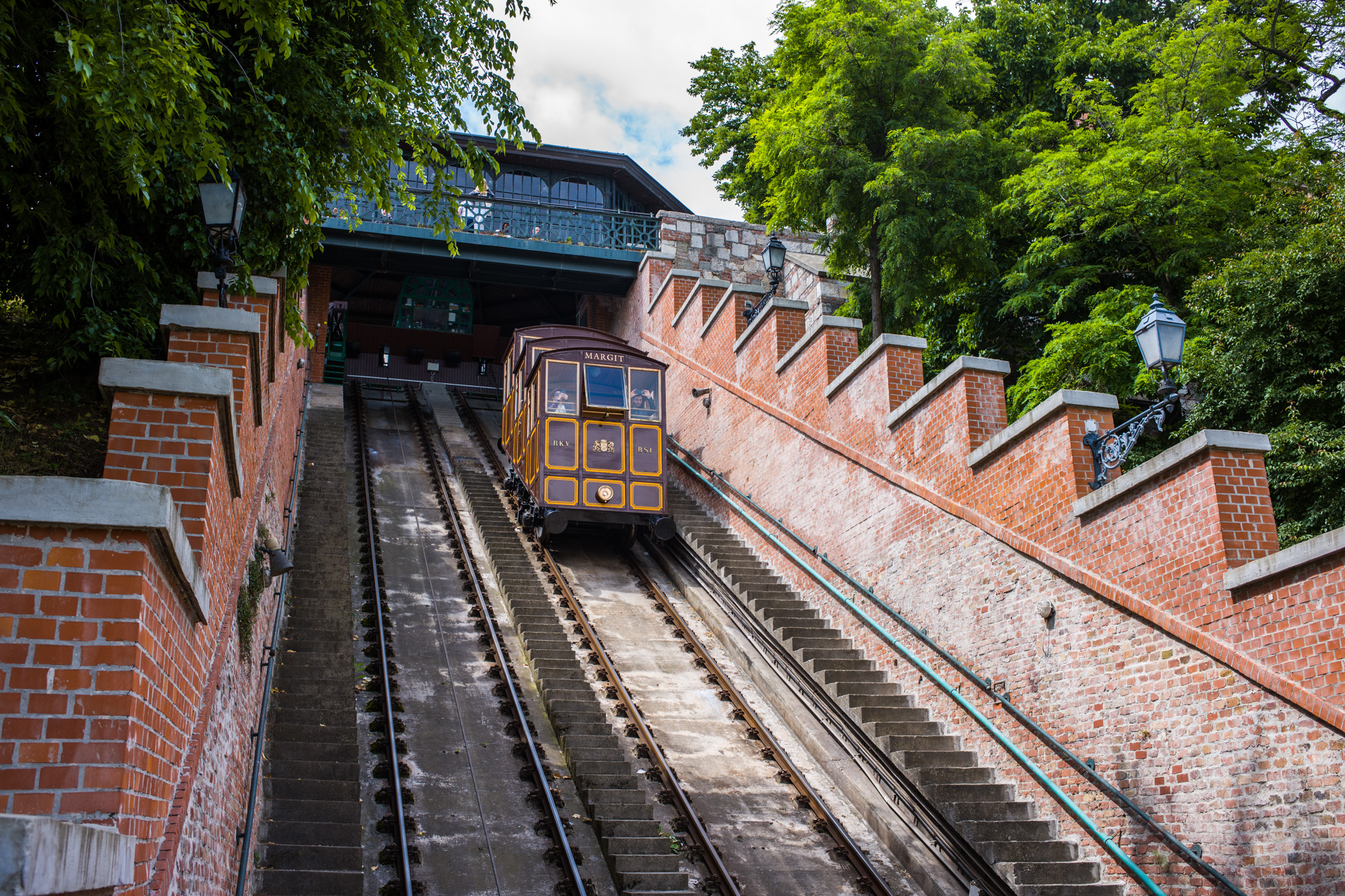 The Funicular to the top of Castle Hill - built in 1870