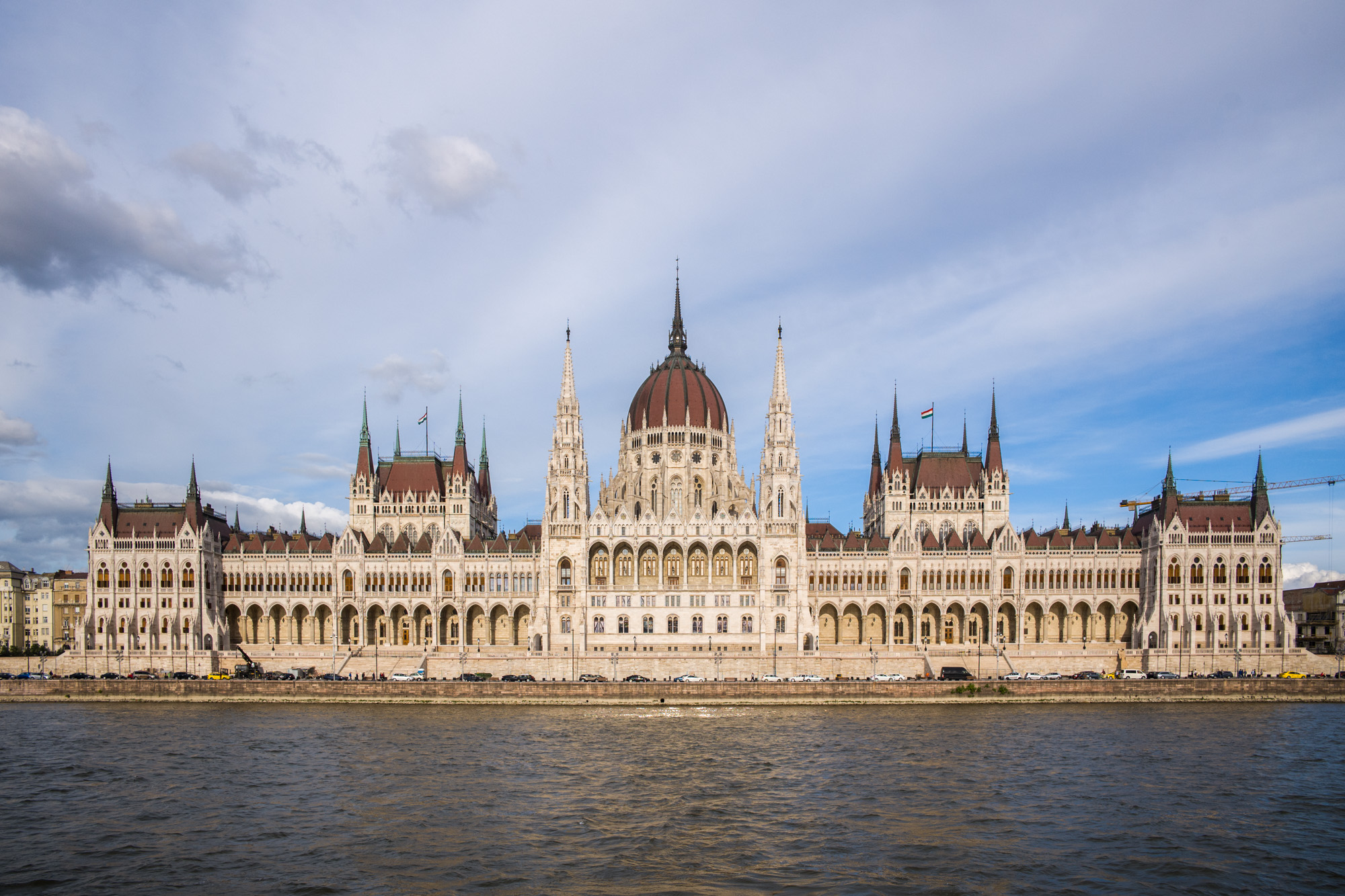 Parliament building seen from the Danube