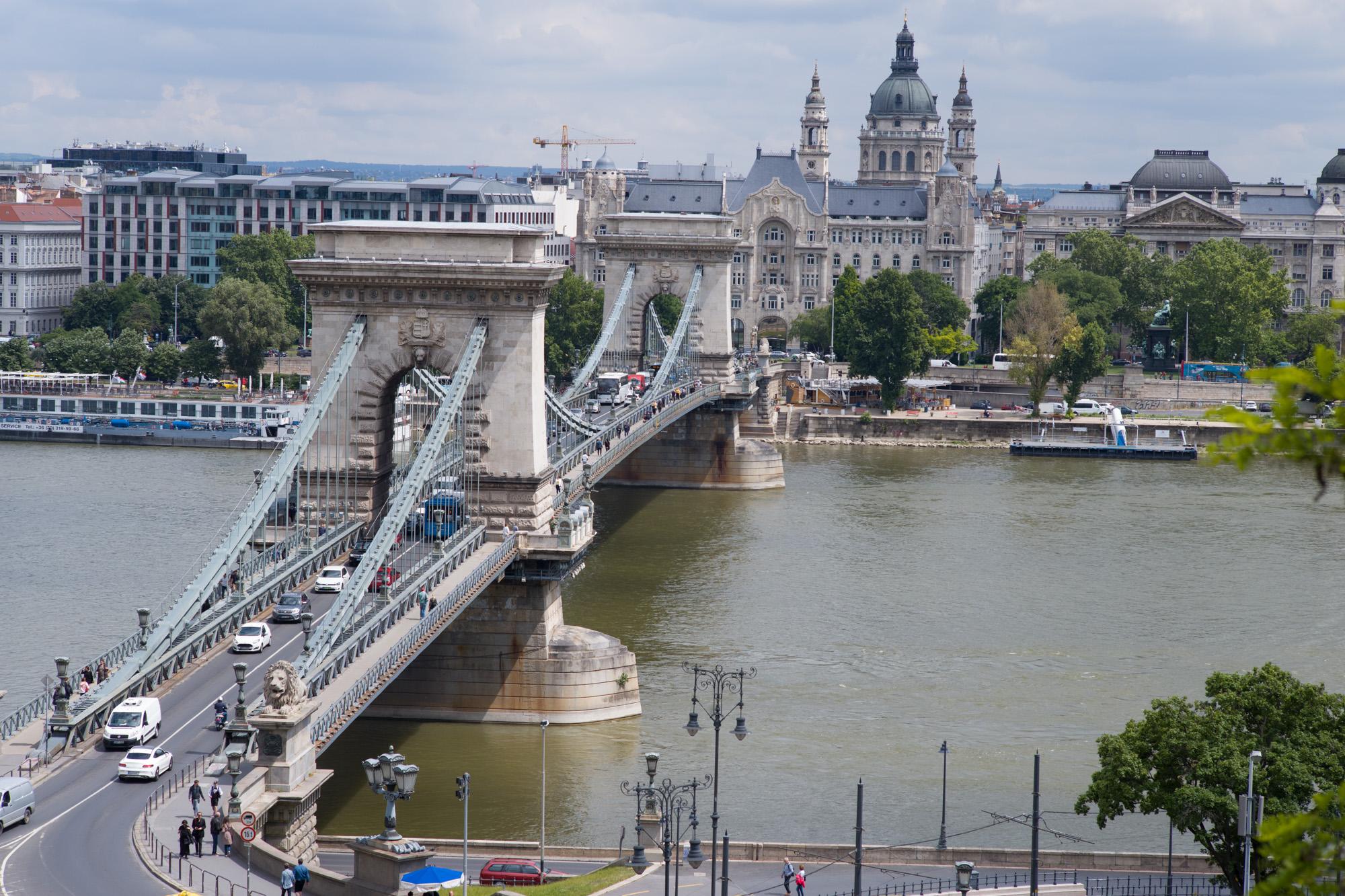 The Chain Bridge over the Danube in Budapest