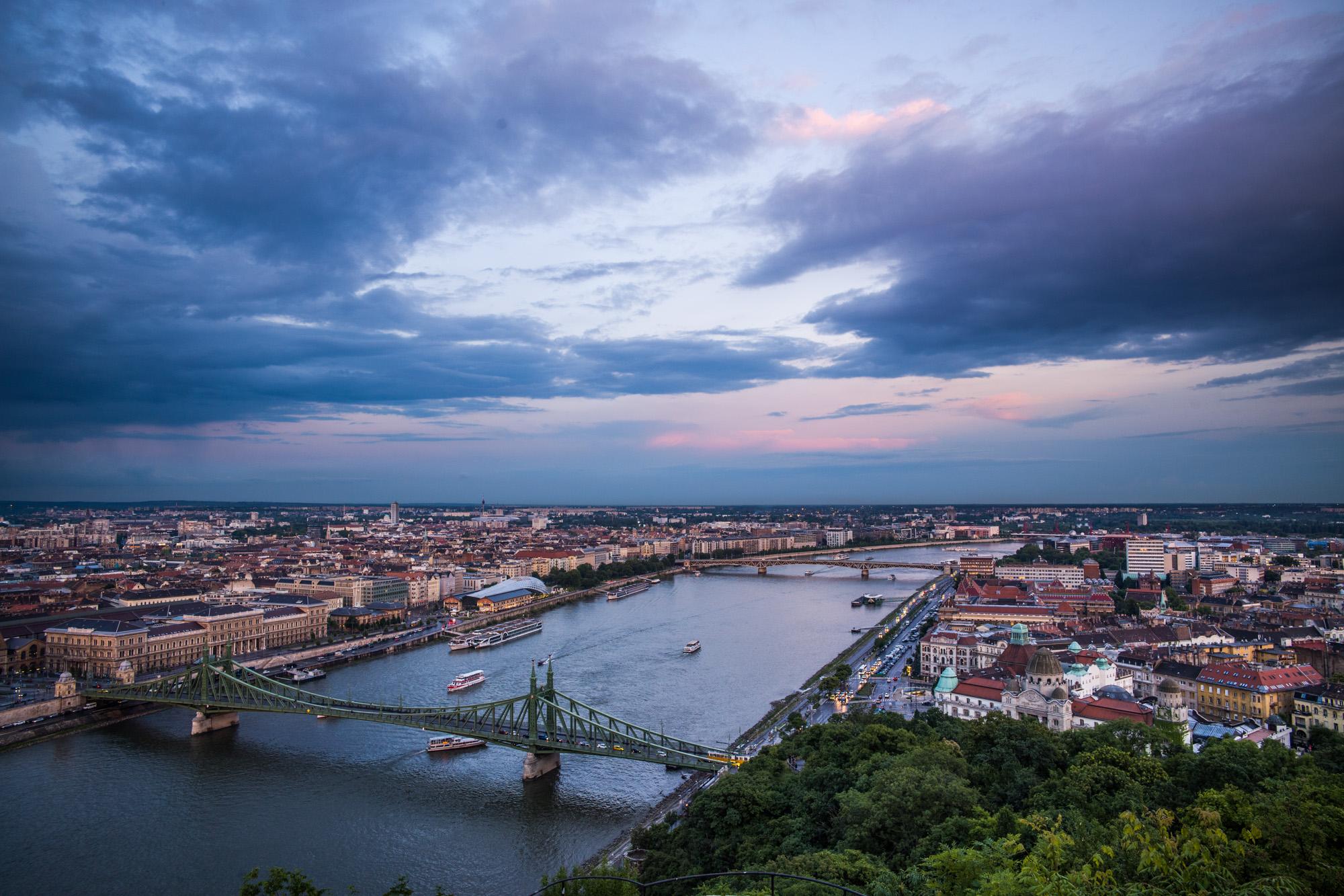 Bridges over the Danube in Budapest