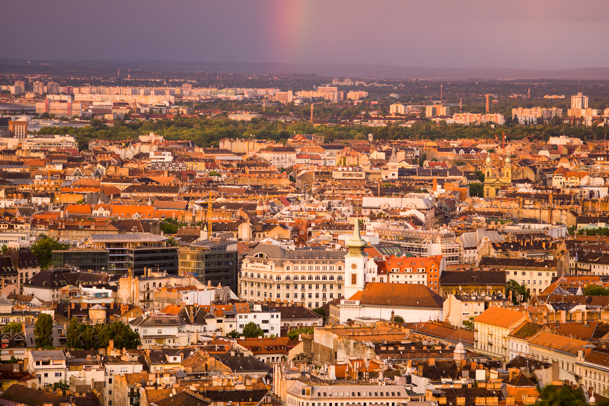 Rainbow over Budapest