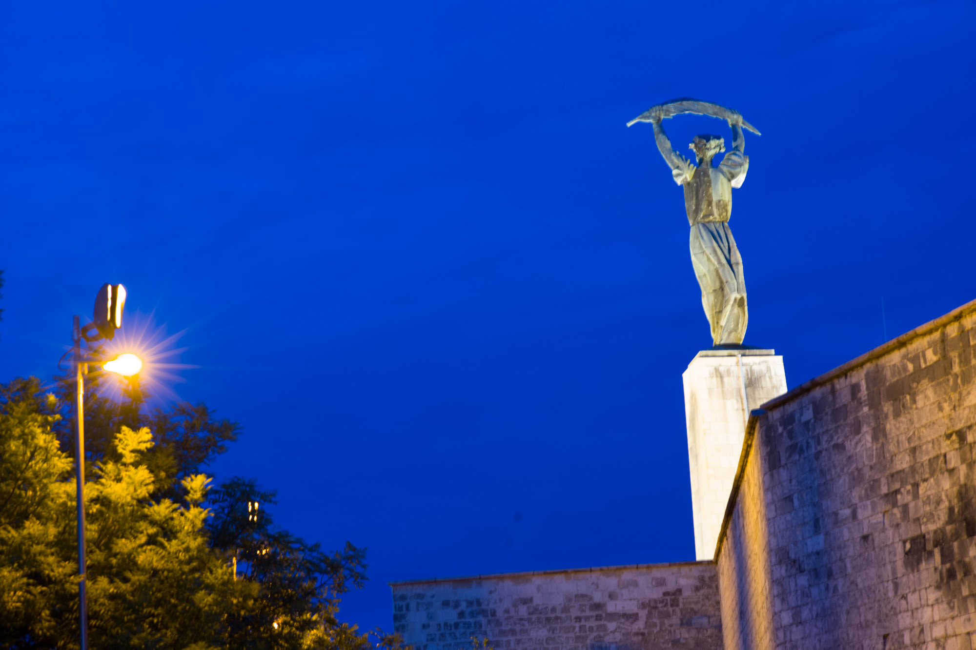 Liberty Statue over Budapest