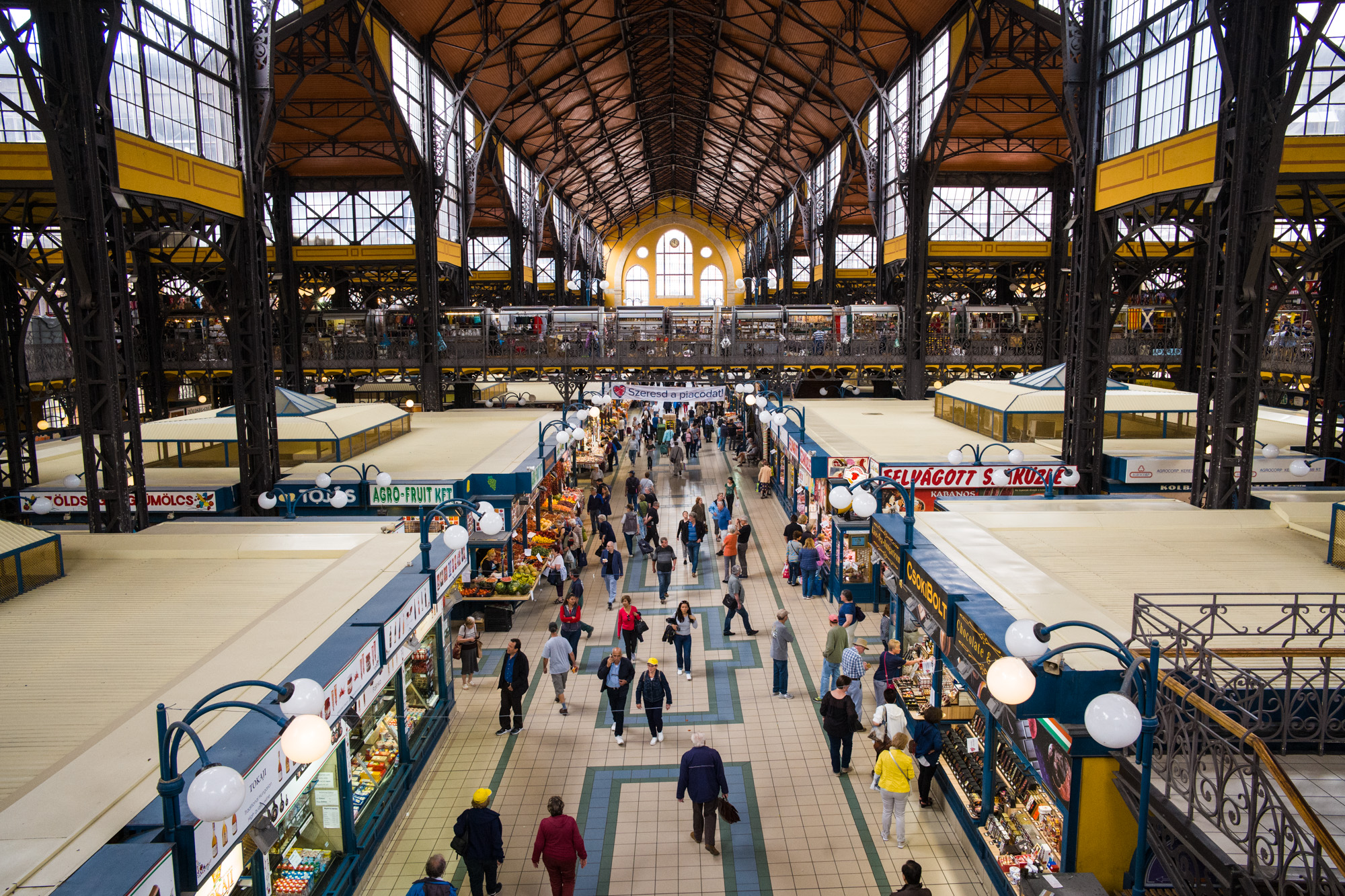 The Central Market of Budapest