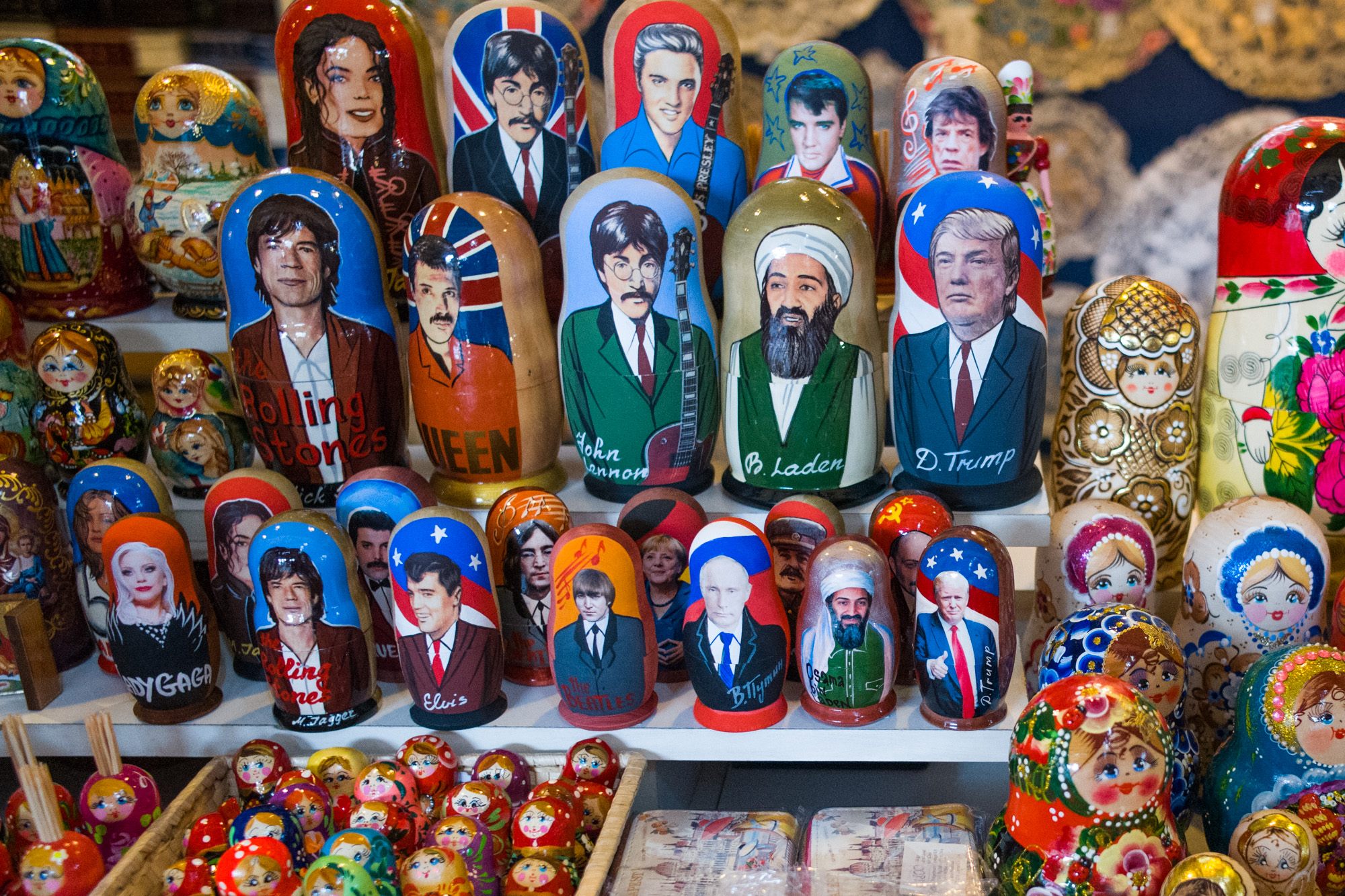 Russian Dolls in the Budapest Market