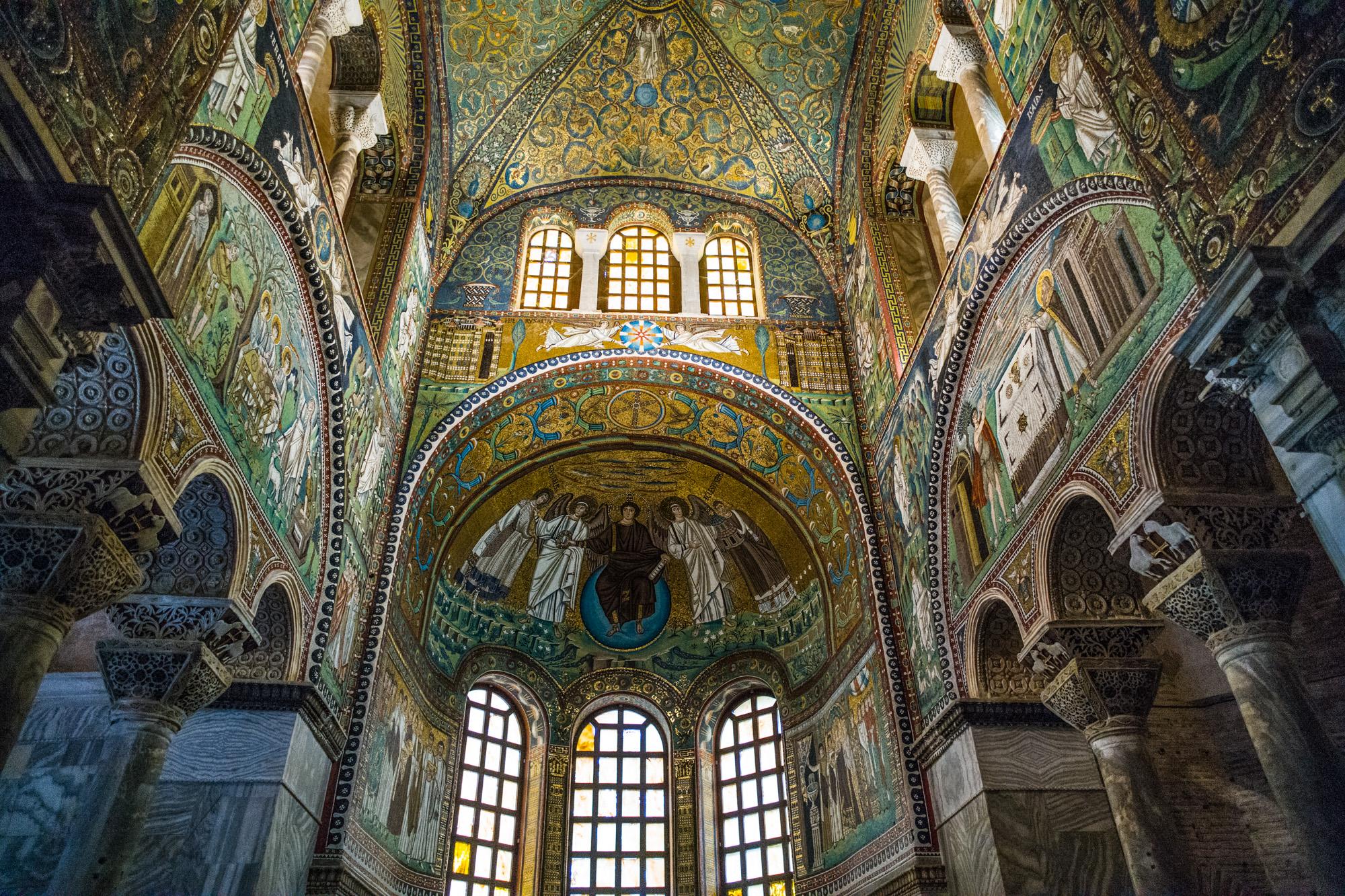 The Mosaics in the church of San Vitale