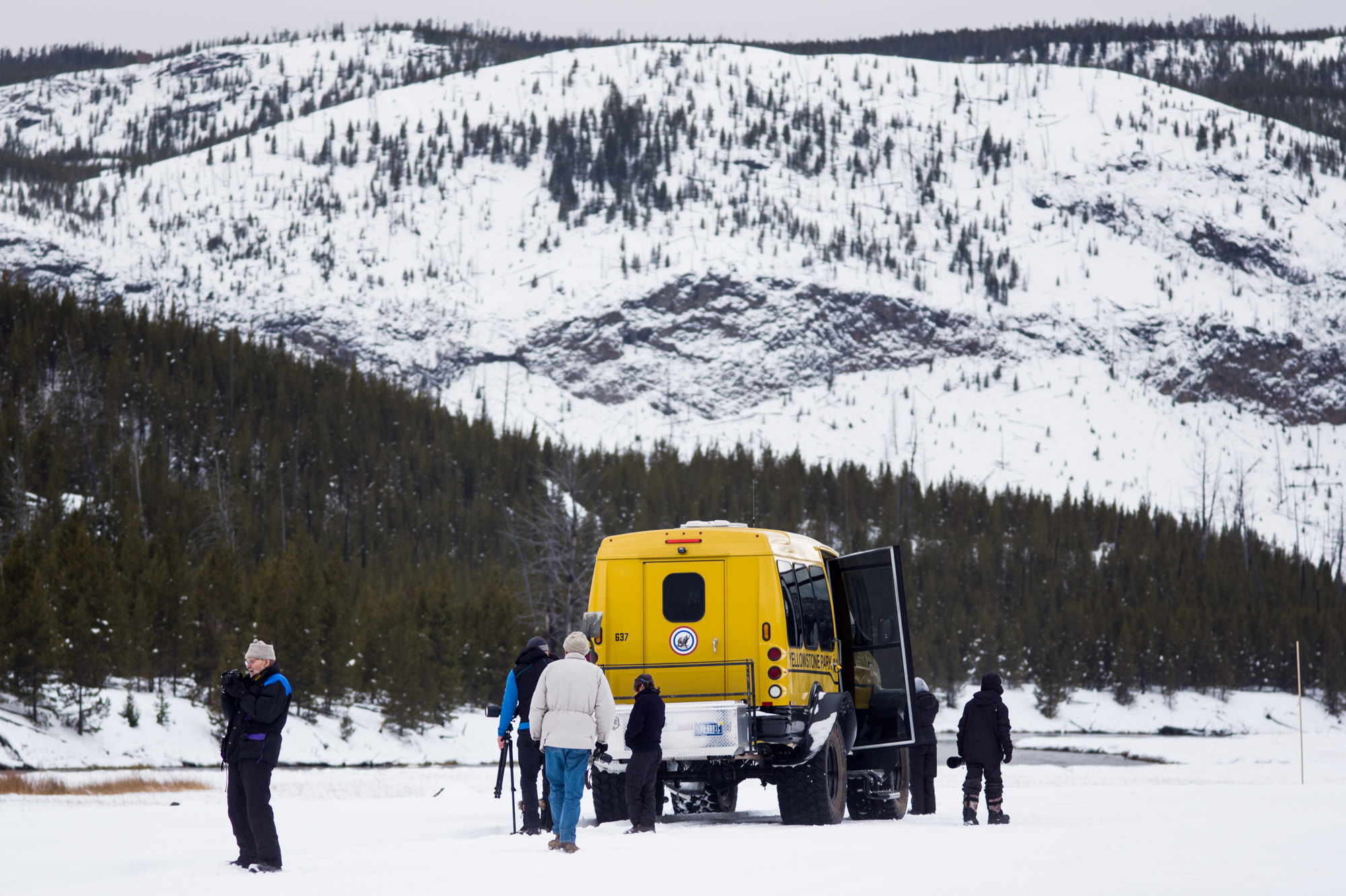 Photographers and the Yellow Snowcoach