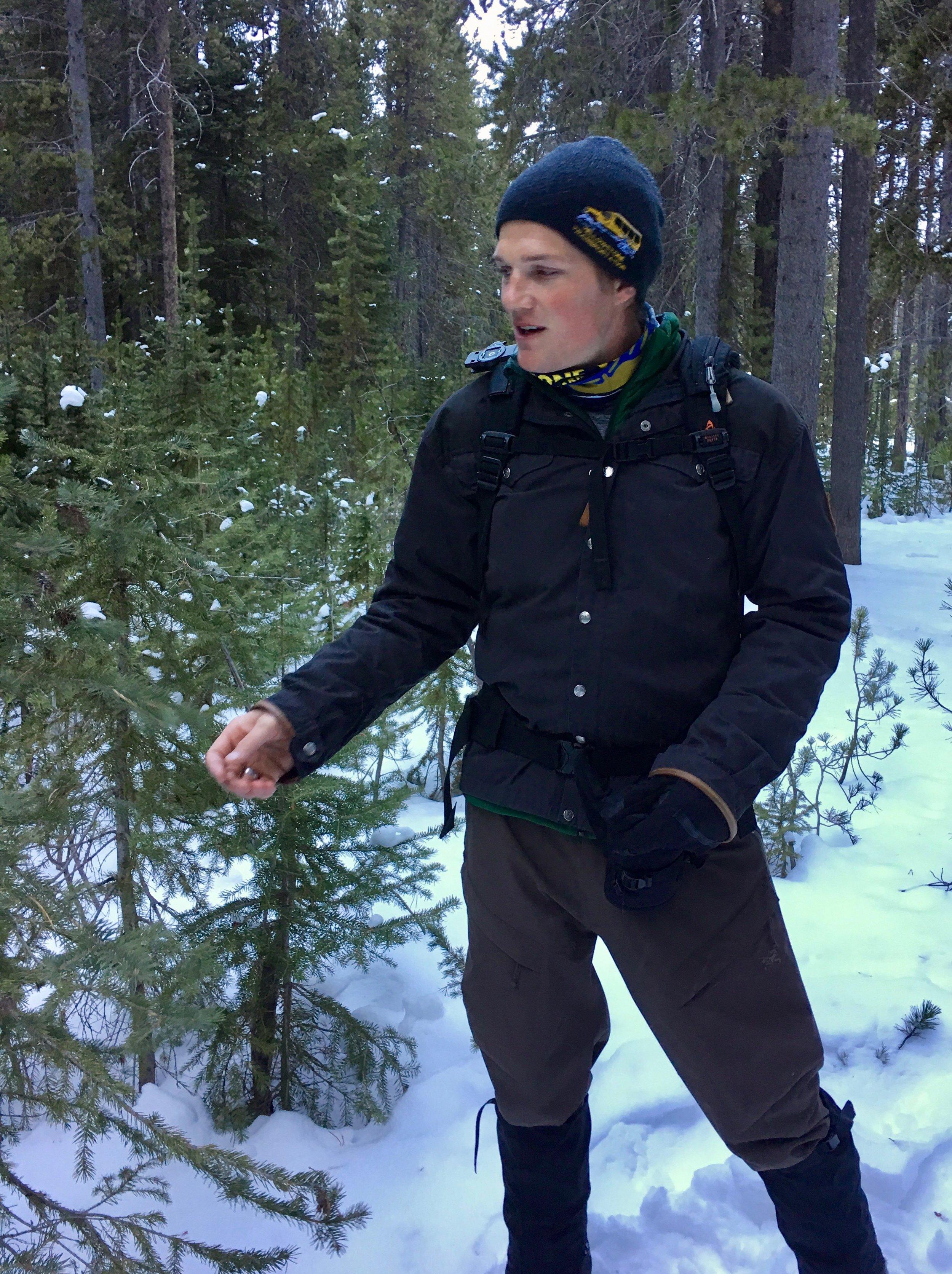 Gregor, our Snowshoe Guide