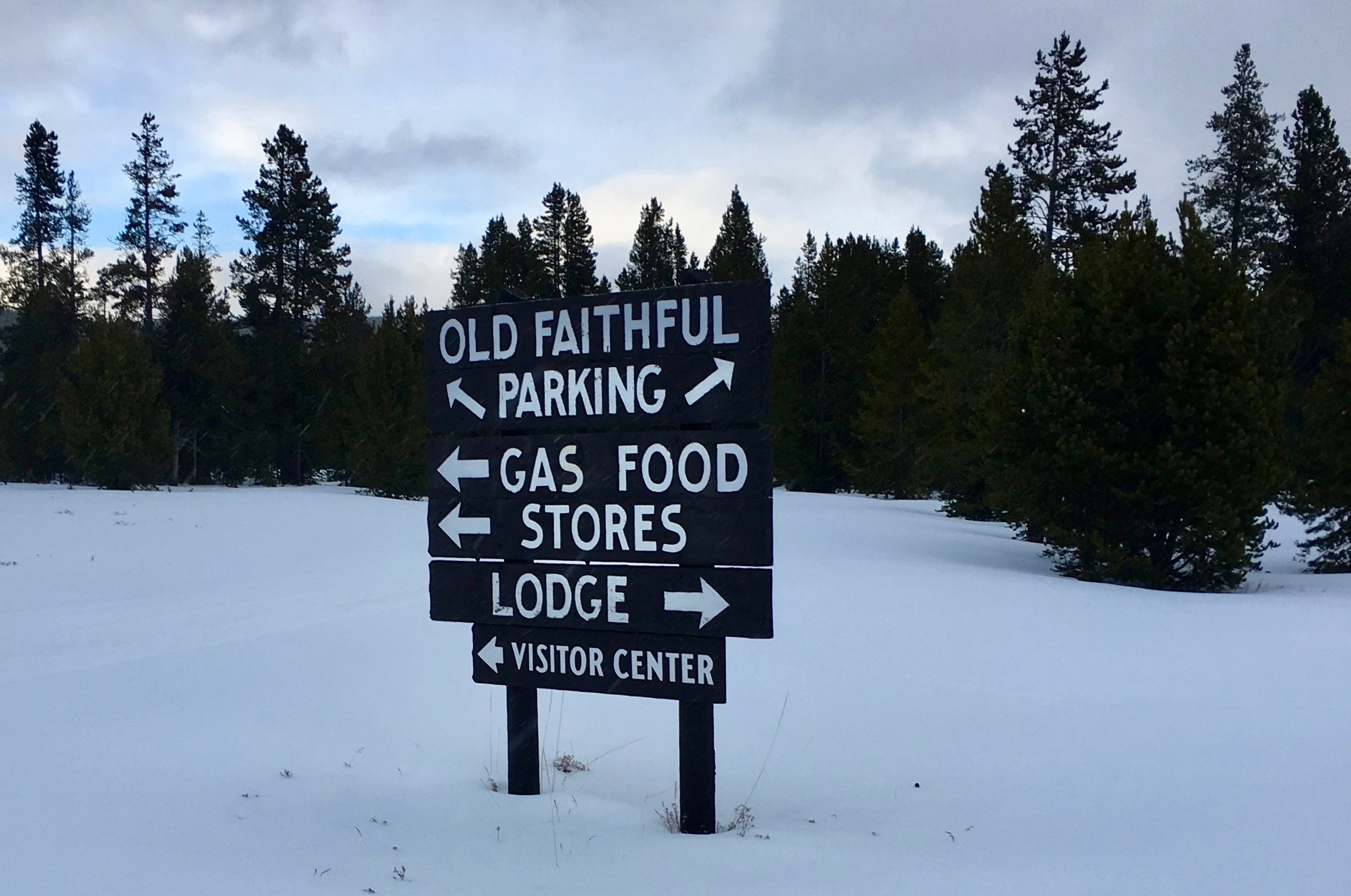 Old Faithful is different in the winter