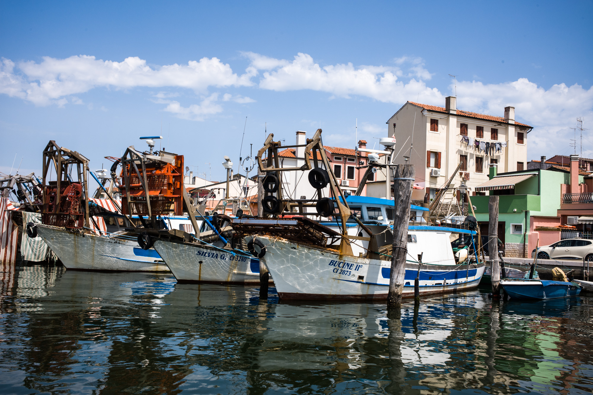 Chioggia is located across the Lagoon from Venice