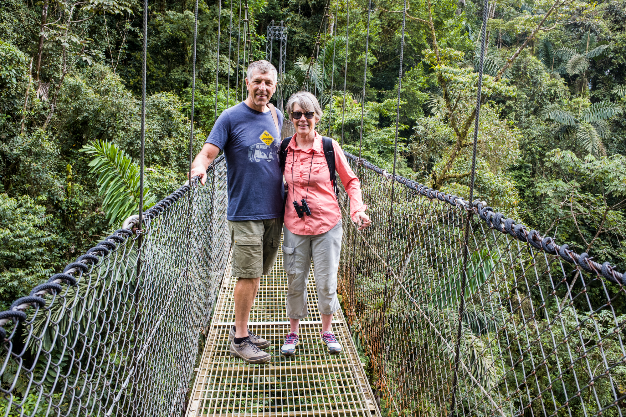 The Suspension Bridge in the canopy links the cloud forest