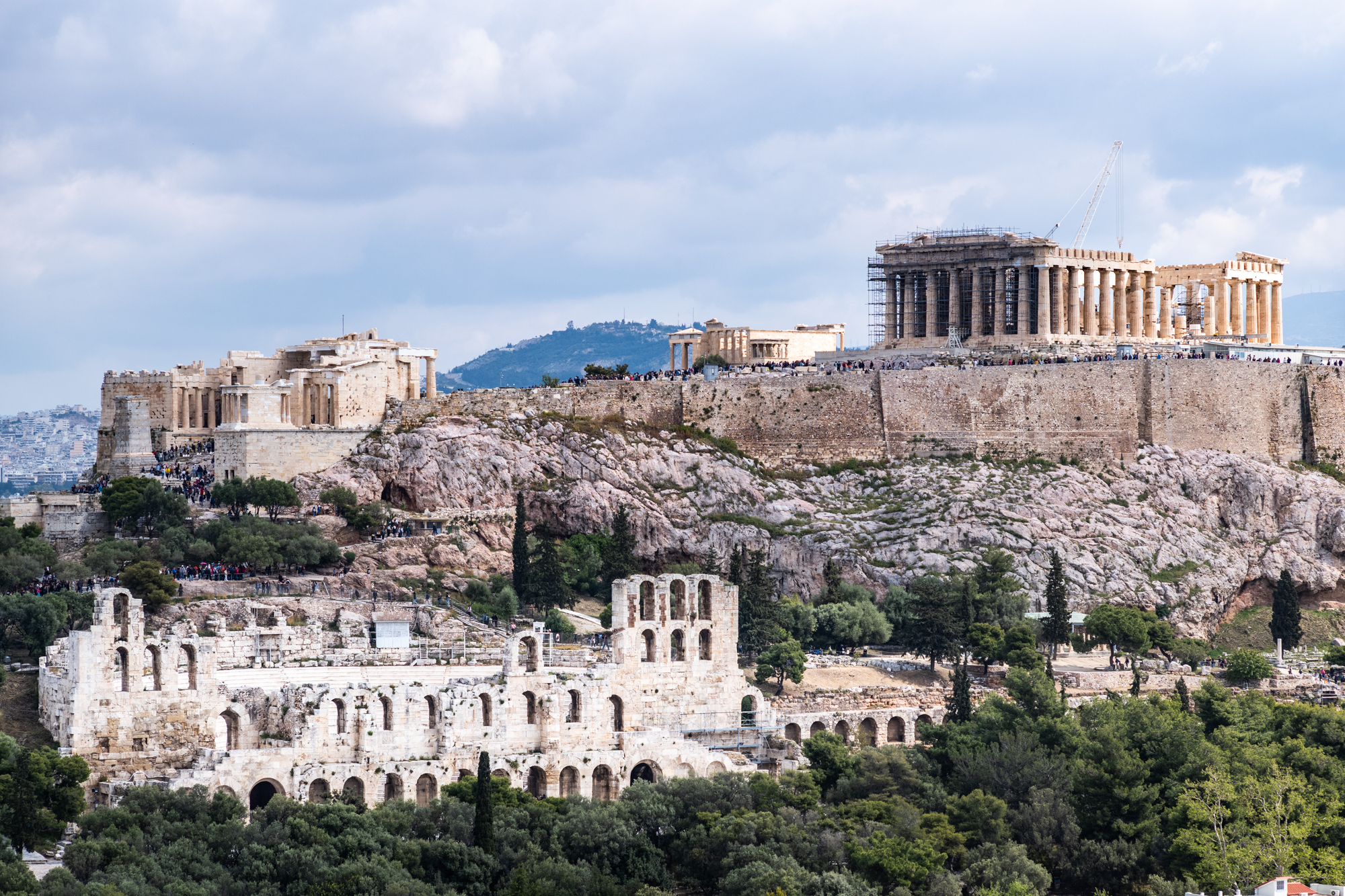 The Acropolis seen from Philopappos Hill