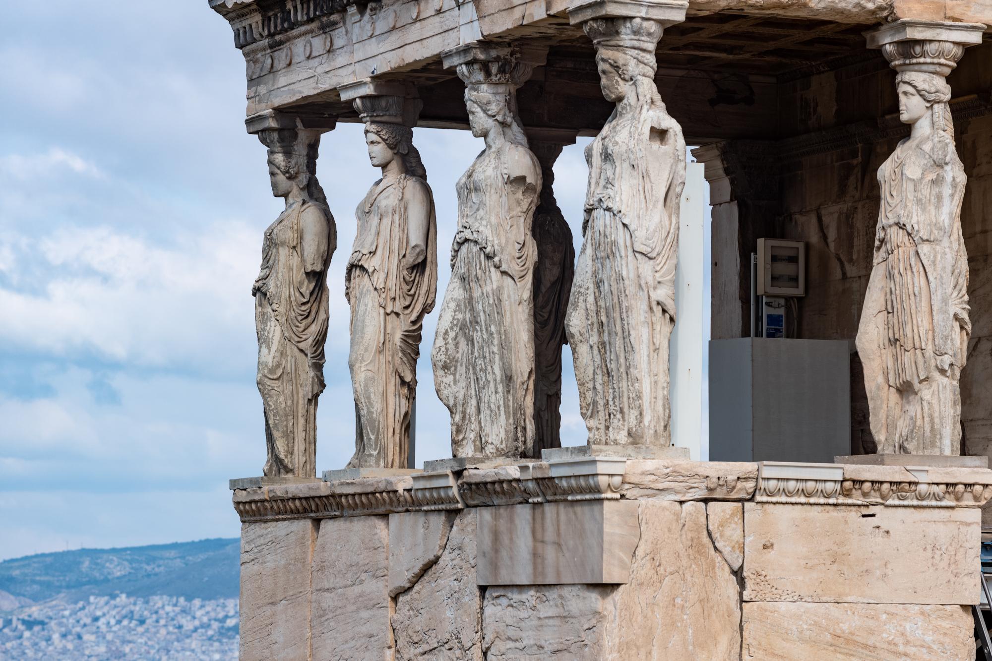 The maiden columns of the Erechtheum