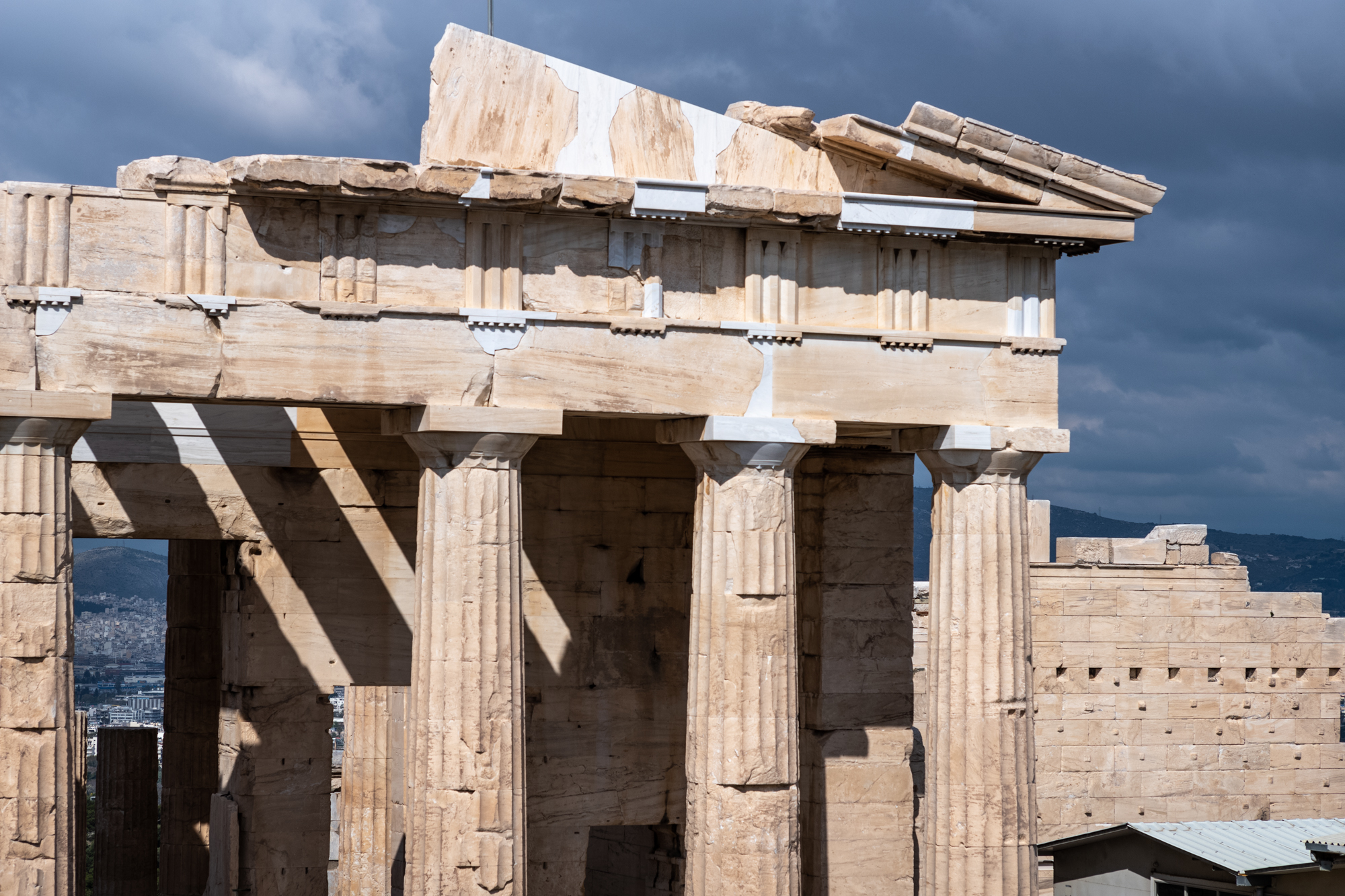Doric Columns on a temple in the Acropolis