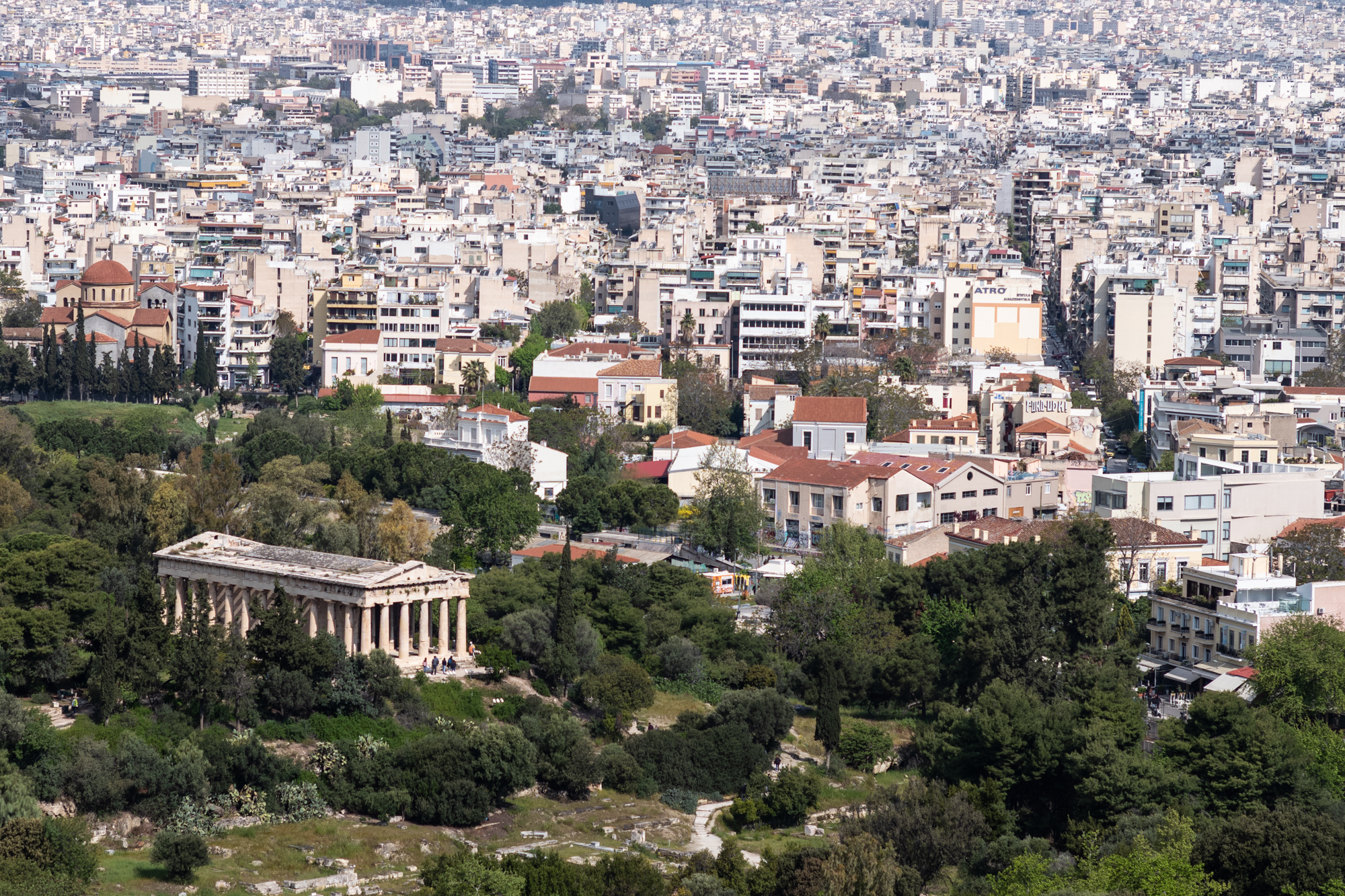 Temple of Hephaestus seen from the Acropolis