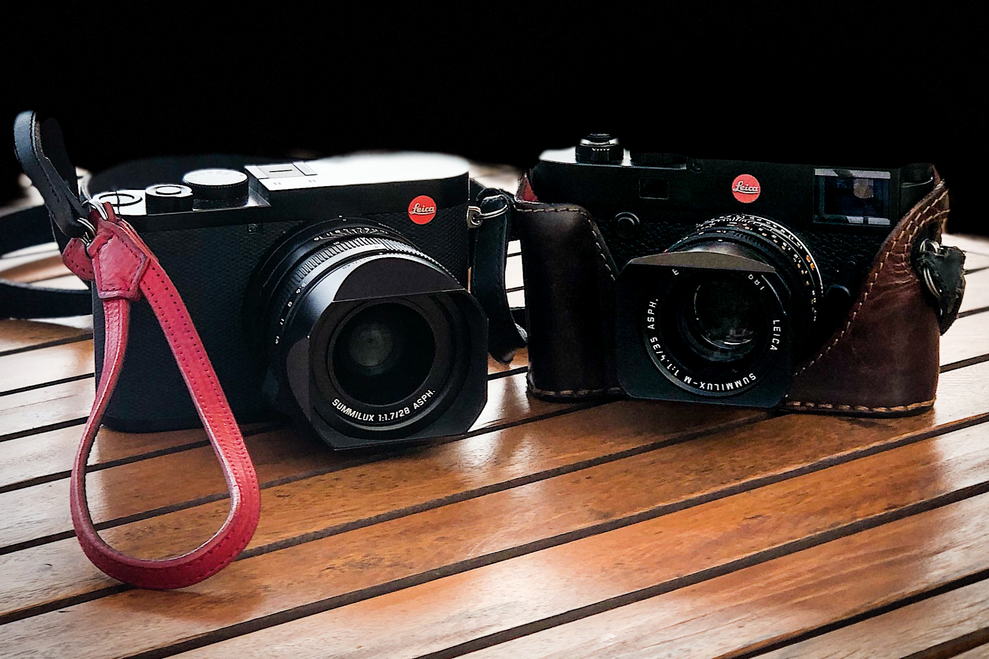 The new Leica Q2 next to my trusted Leica M10.