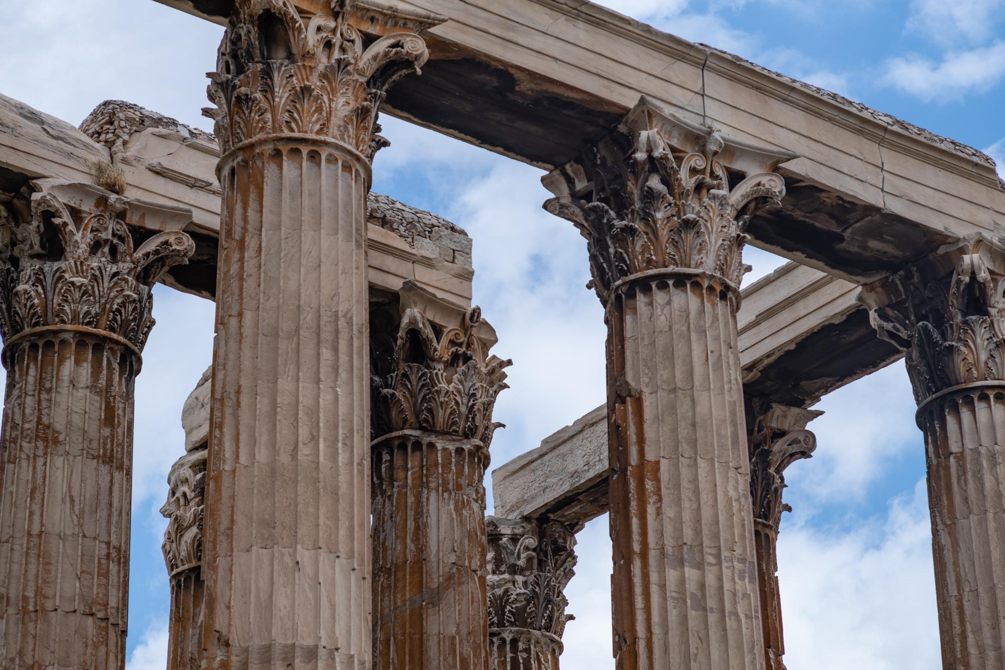 The corinthian columns of the Temple of Zeus