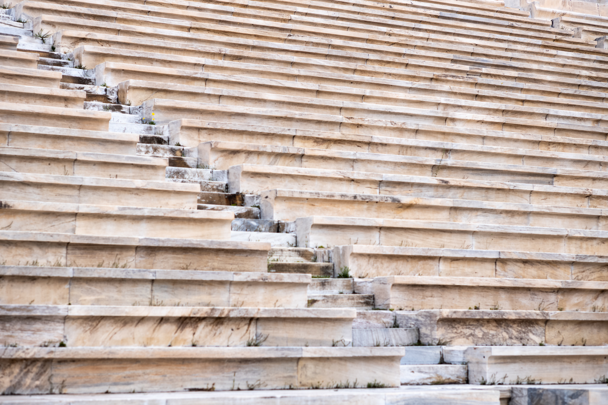 Steps and seats in the Stadium