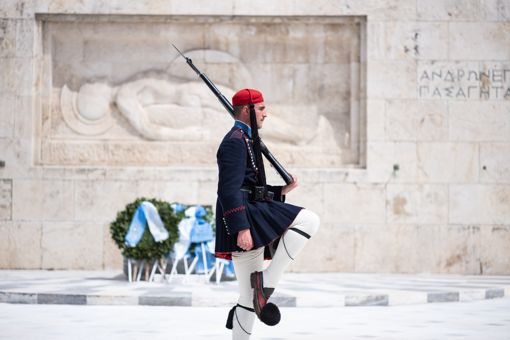 Balance and focus by the guards guarding the Tomb of the Unknown Soldier