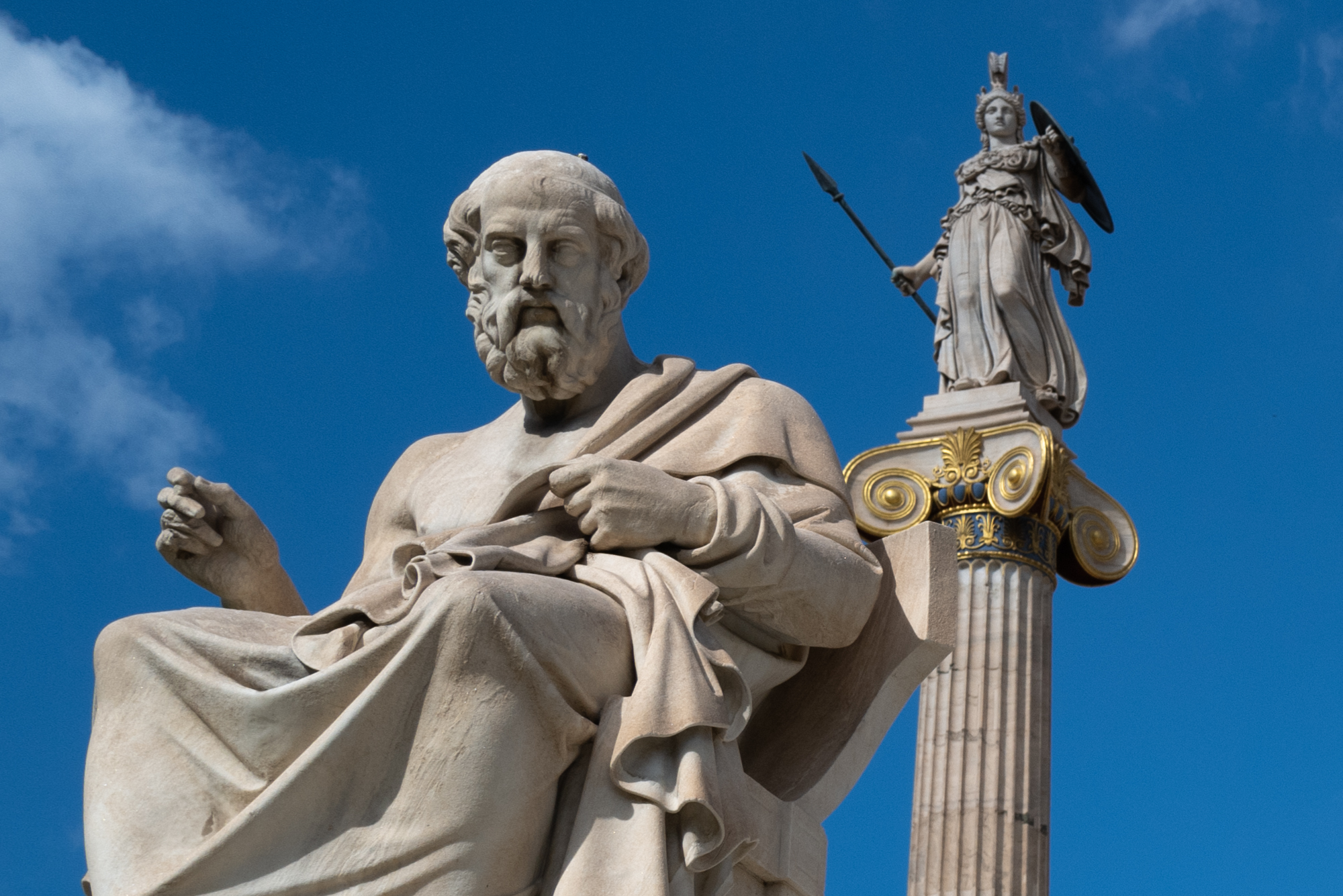 Athena watching over Socrates at The Academy of Athens