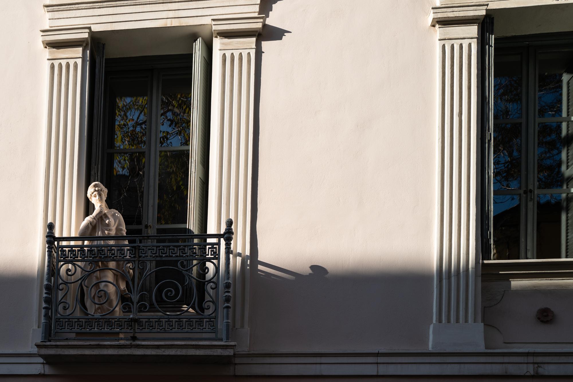 Statue in a window in Plaka