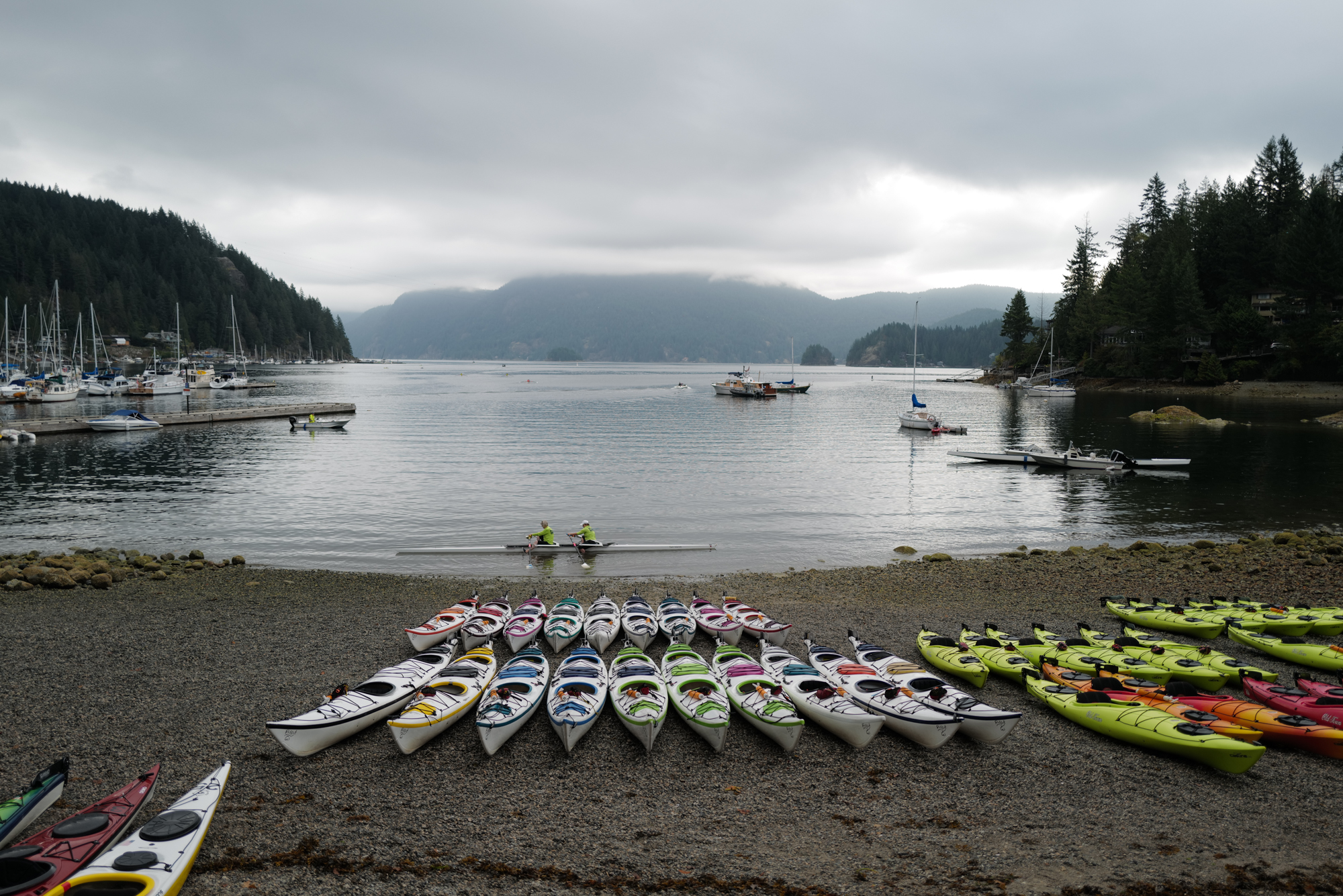 Kayaks for rent at Deep Cove Kayak